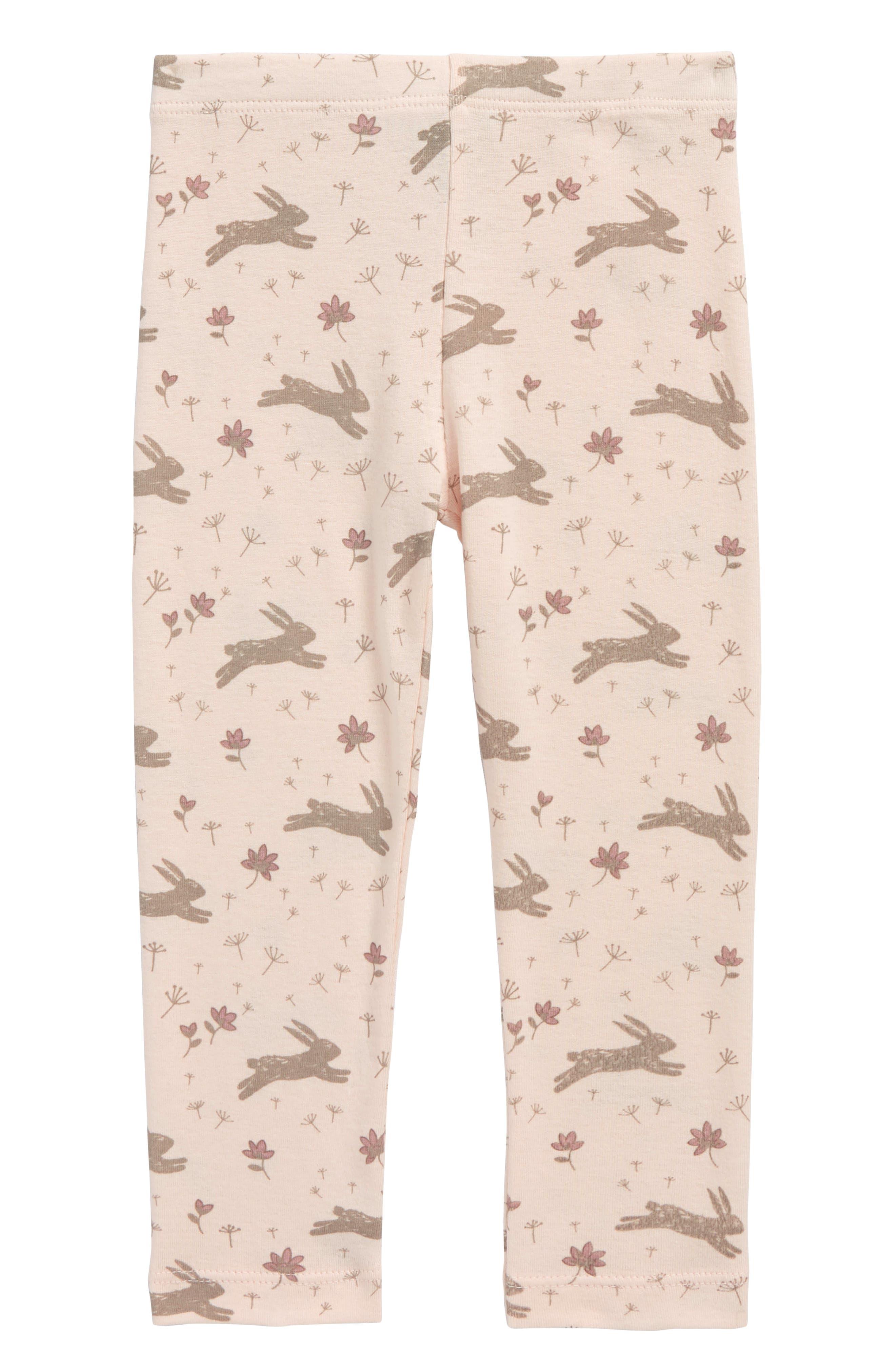 Peek Bunny Leggings,                         Main,                         color, Light Pink