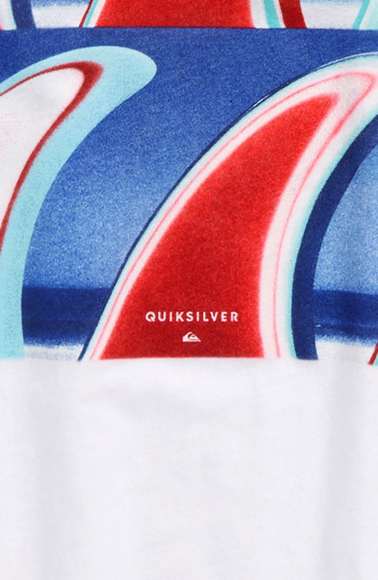 Fin Finatic Graphic T-Shirt,                             Alternate thumbnail 2, color,                             White