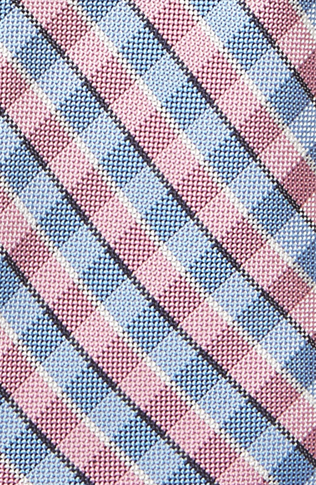 Circus Check Silk Tie,                             Alternate thumbnail 2, color,                             Pink