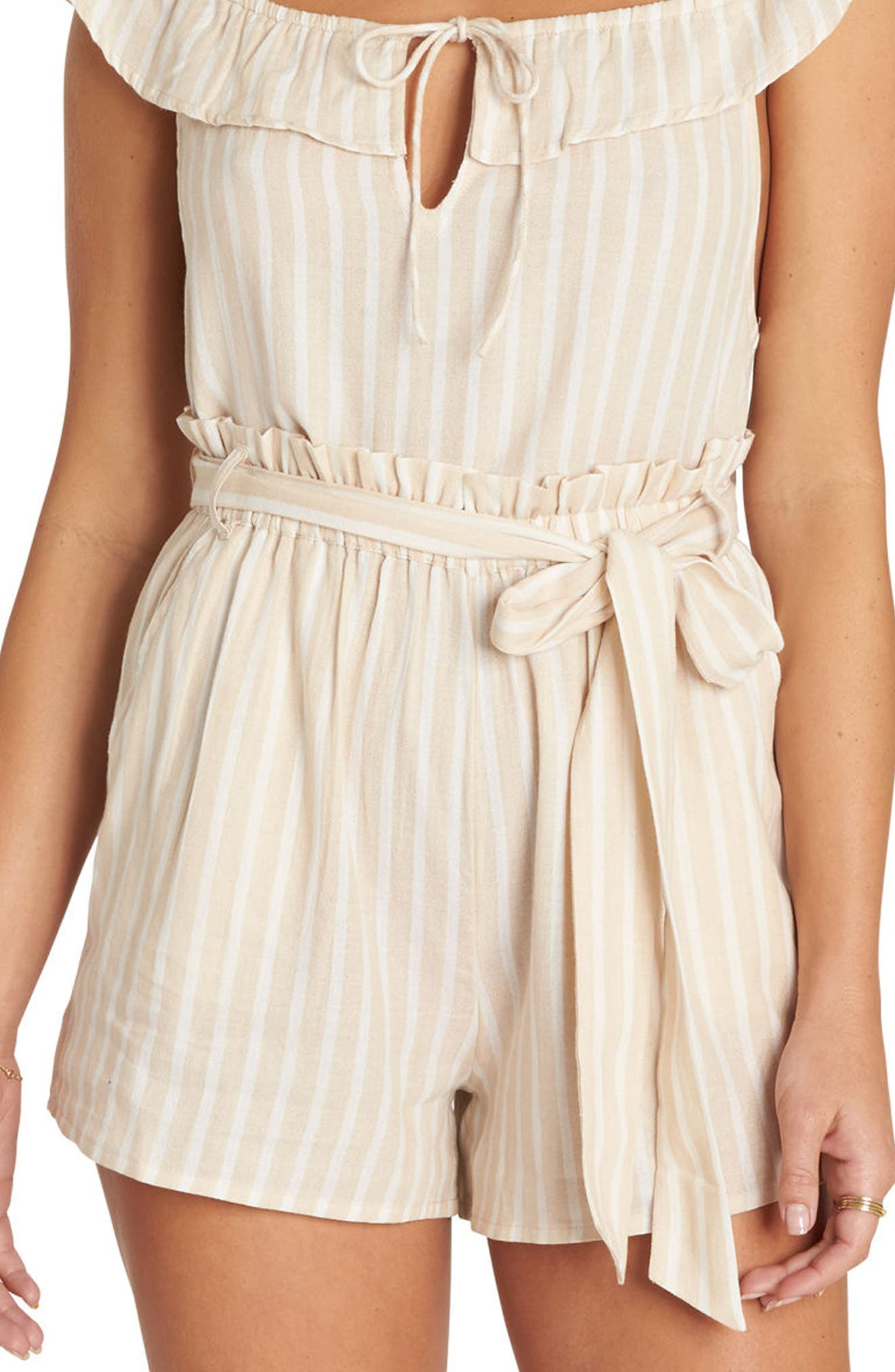 Fake Out Paperbag Waist Shorts,                         Main,                         color, Light Stone