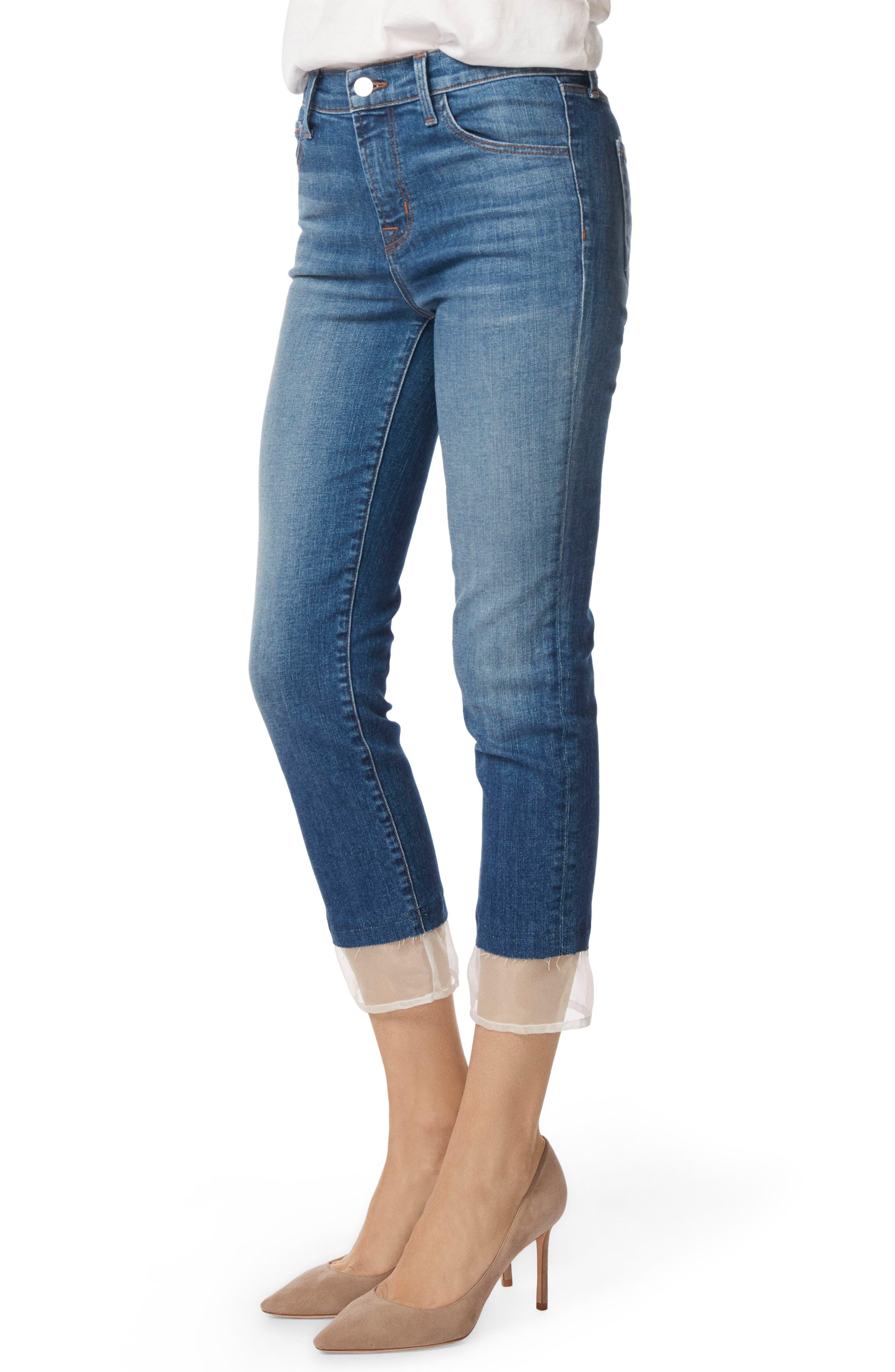 Ruby High Waist Crop Cigarette Jeans,                             Alternate thumbnail 3, color,                             Gossamer