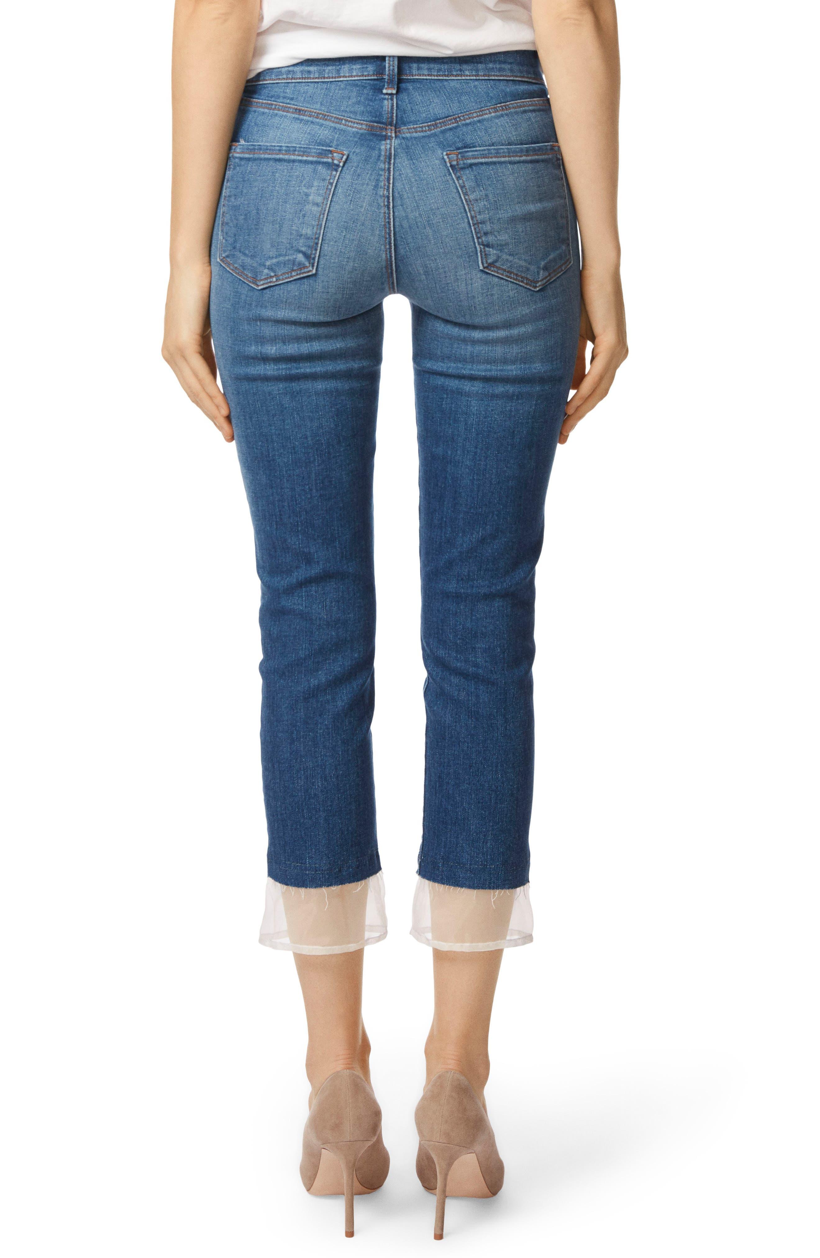 Ruby High Waist Crop Cigarette Jeans,                             Alternate thumbnail 2, color,                             Gossamer