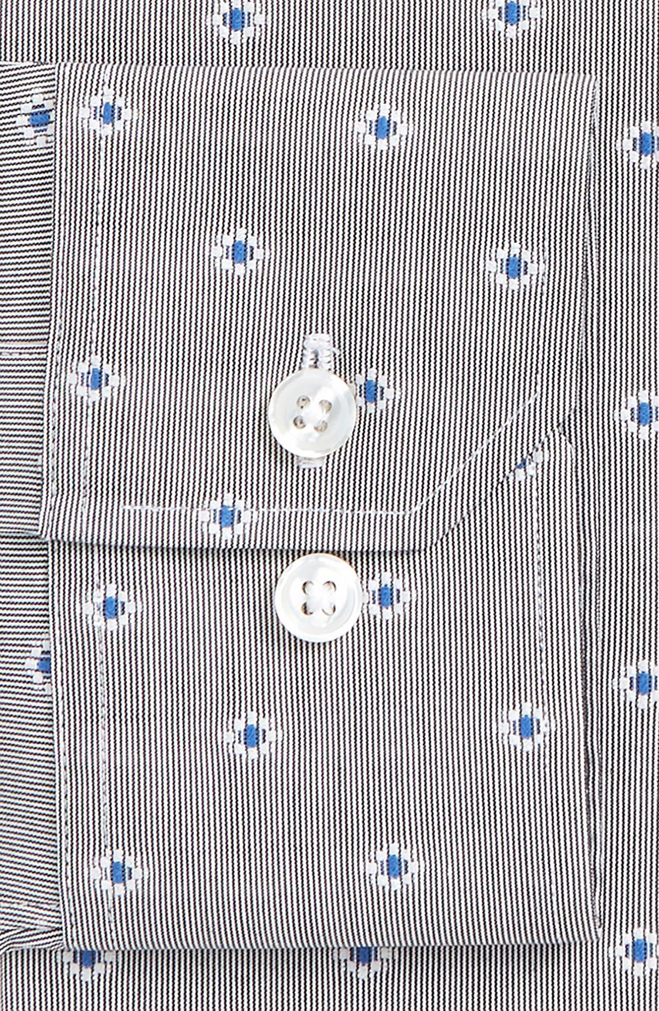 Jetsetter Slim Fit Stretch Jacquard Dress Shirt,                             Alternate thumbnail 2, color,                             Navy/ Grey