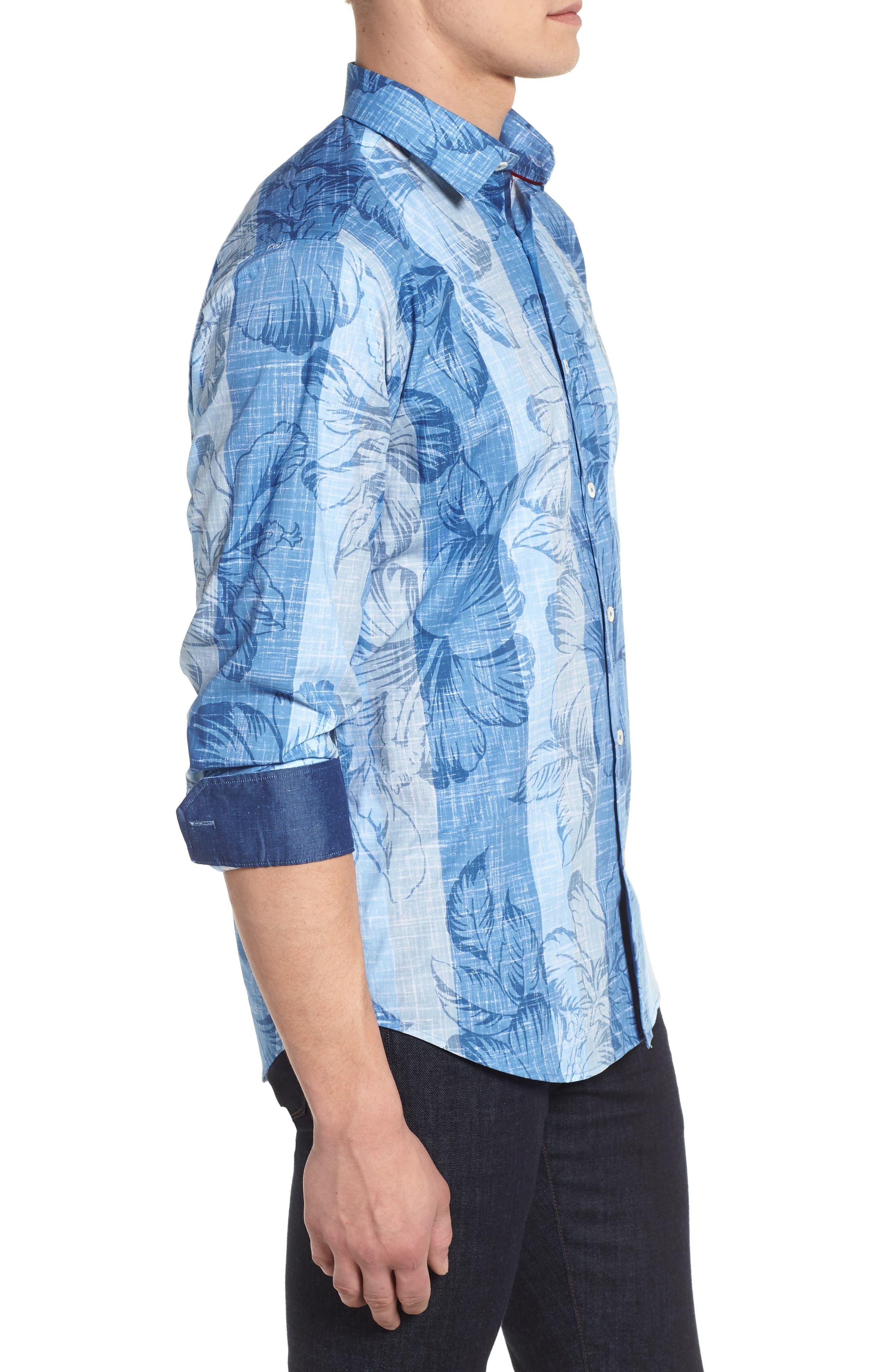 Sport Shirt,                             Alternate thumbnail 3, color,                             Air Blue
