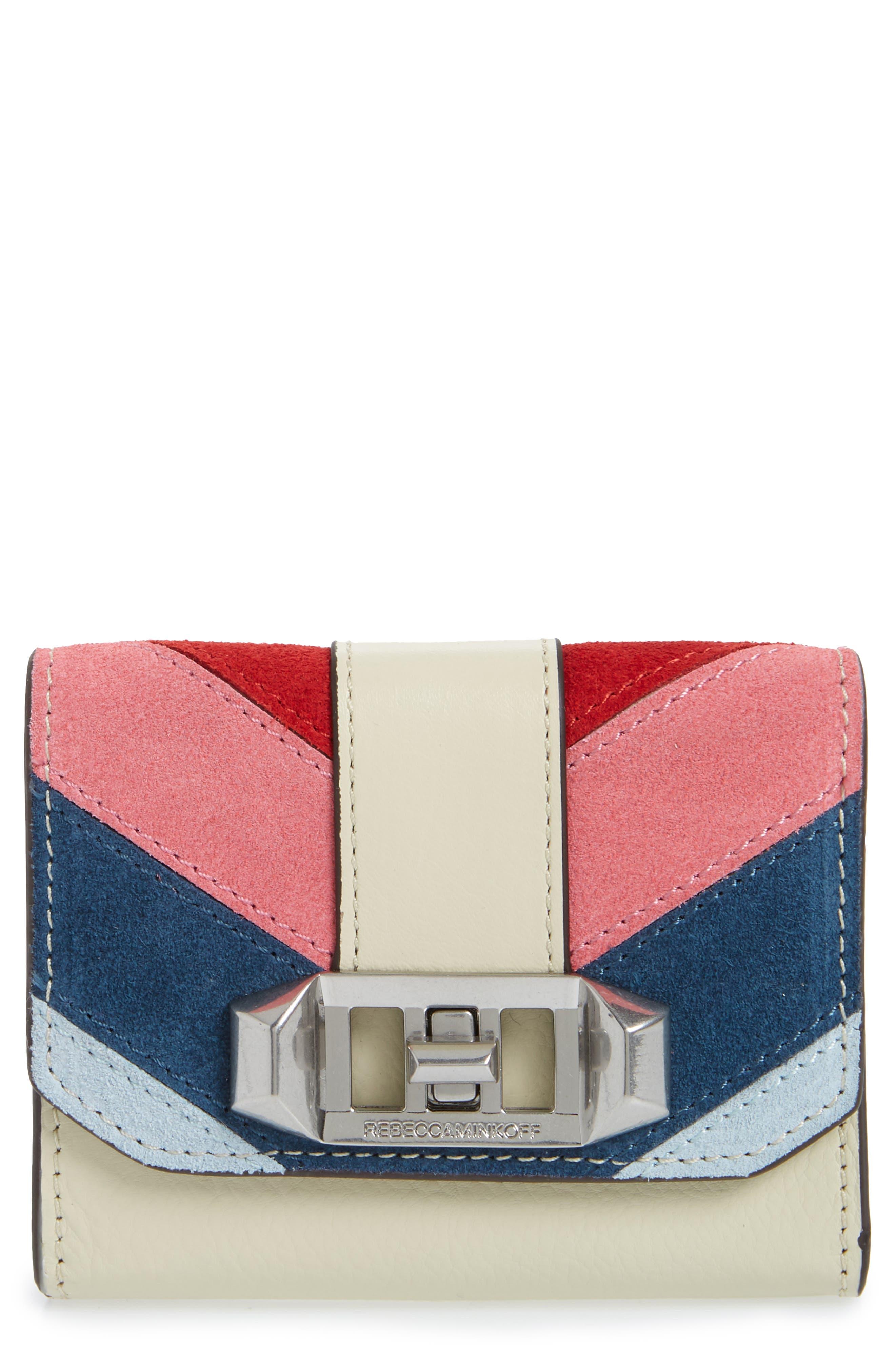 Rebecca Minkoff Love Lock Suede & Leather Wallet
