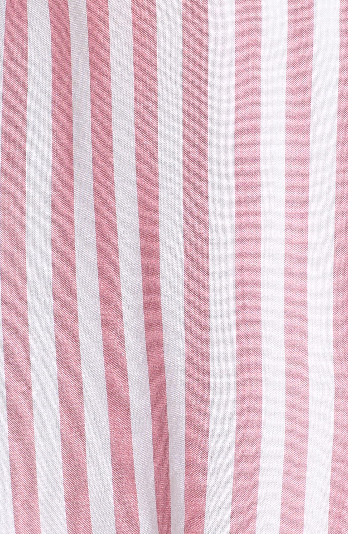 Stripe Short Pajamas,                             Alternate thumbnail 6, color,                             Garnet White