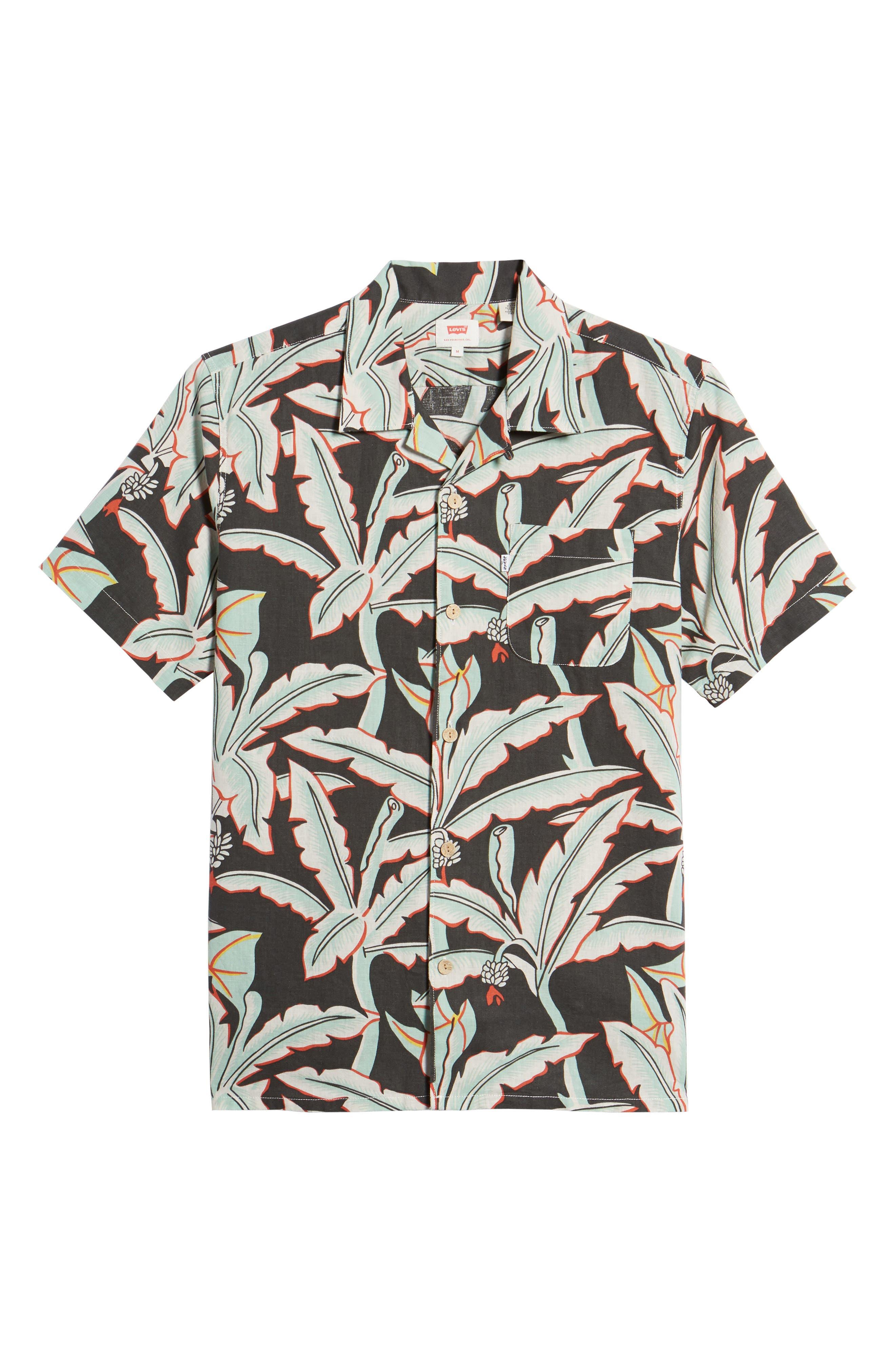 Hawaiian Woven Shirt,                             Alternate thumbnail 6, color,                             Holtville Ming Green