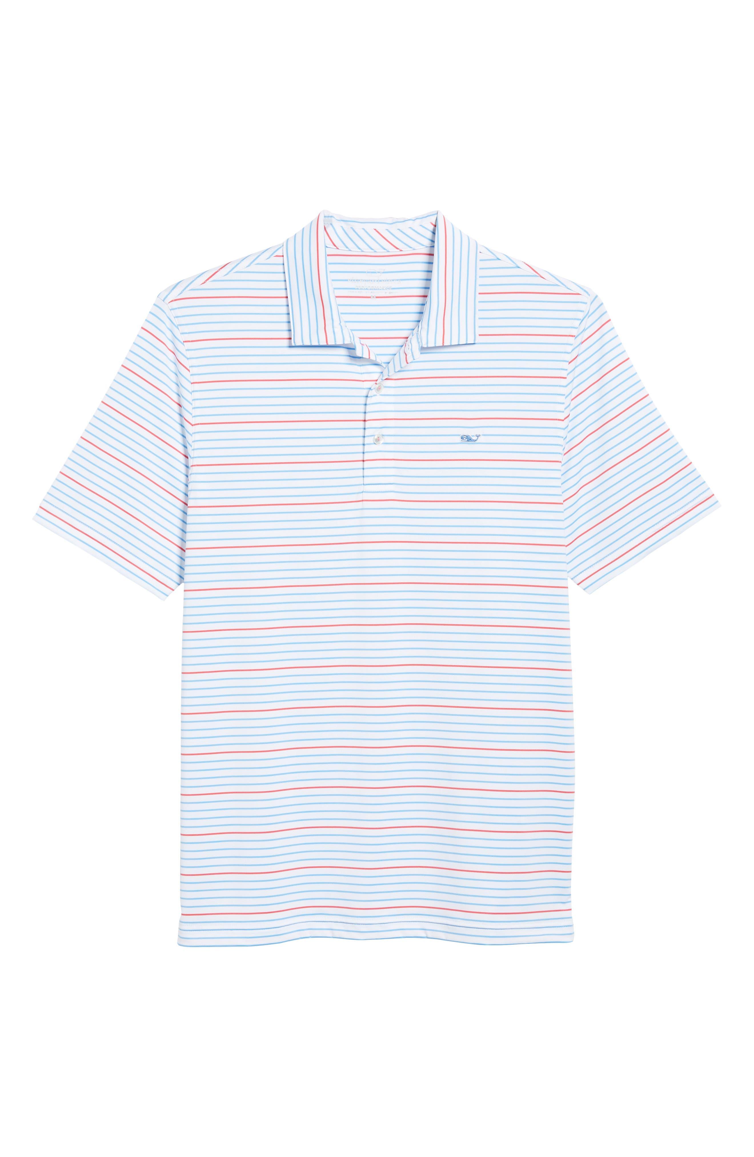 Swindell Stretch Stripe Polo,                             Alternate thumbnail 6, color,                             White Cap