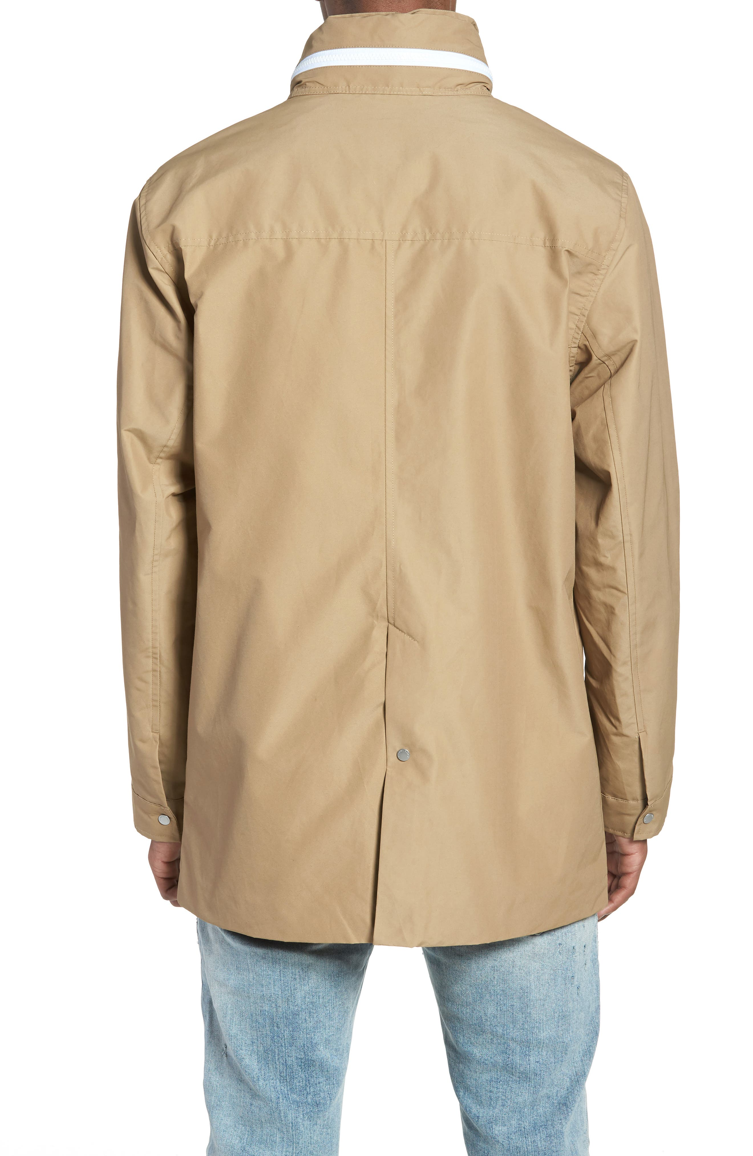 Stowaway Mac Jacket,                             Alternate thumbnail 2, color,                             Khaki/ Woodland Camo