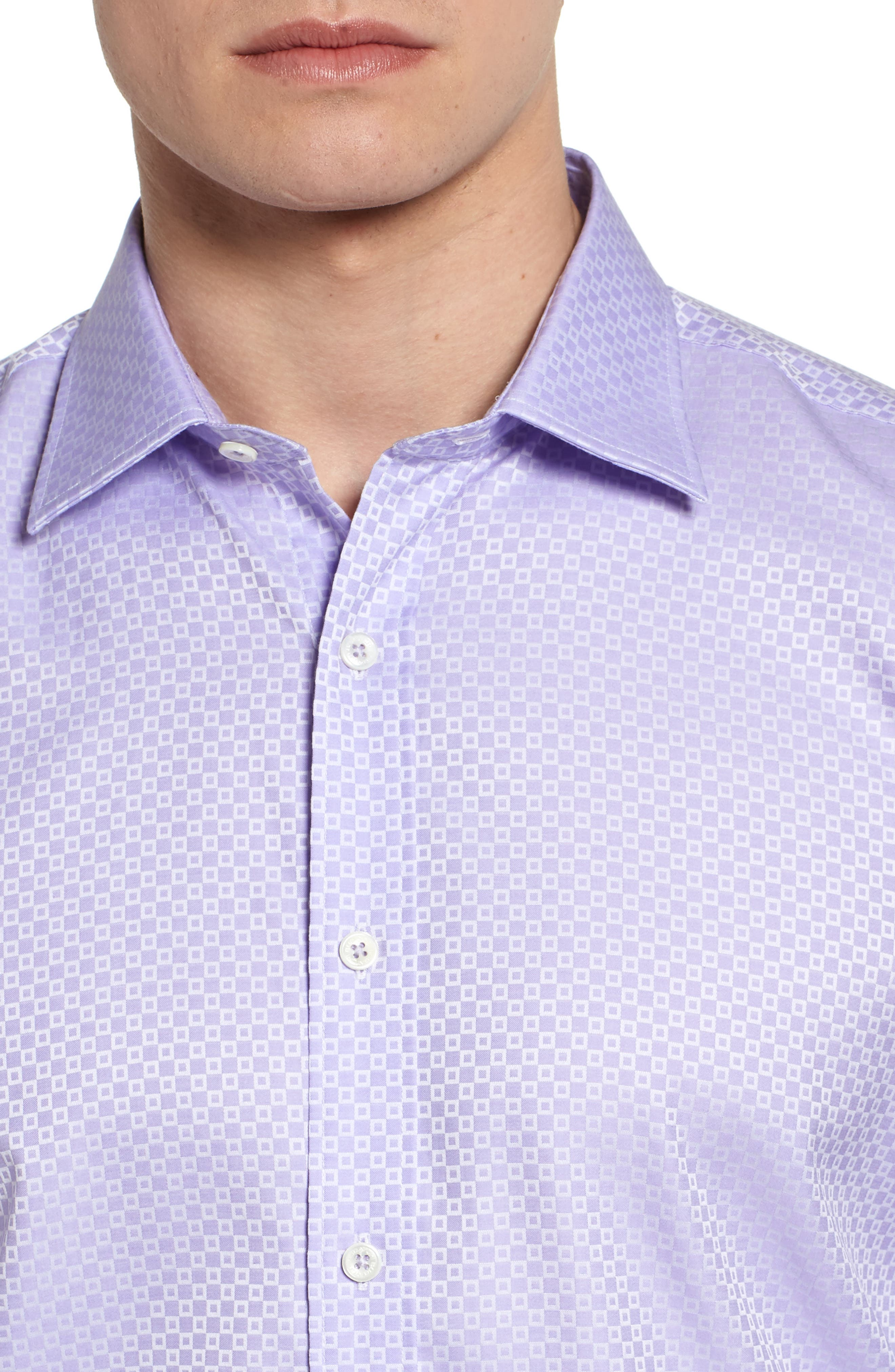 Woven Sport Shirt,                             Alternate thumbnail 4, color,                             Lavender