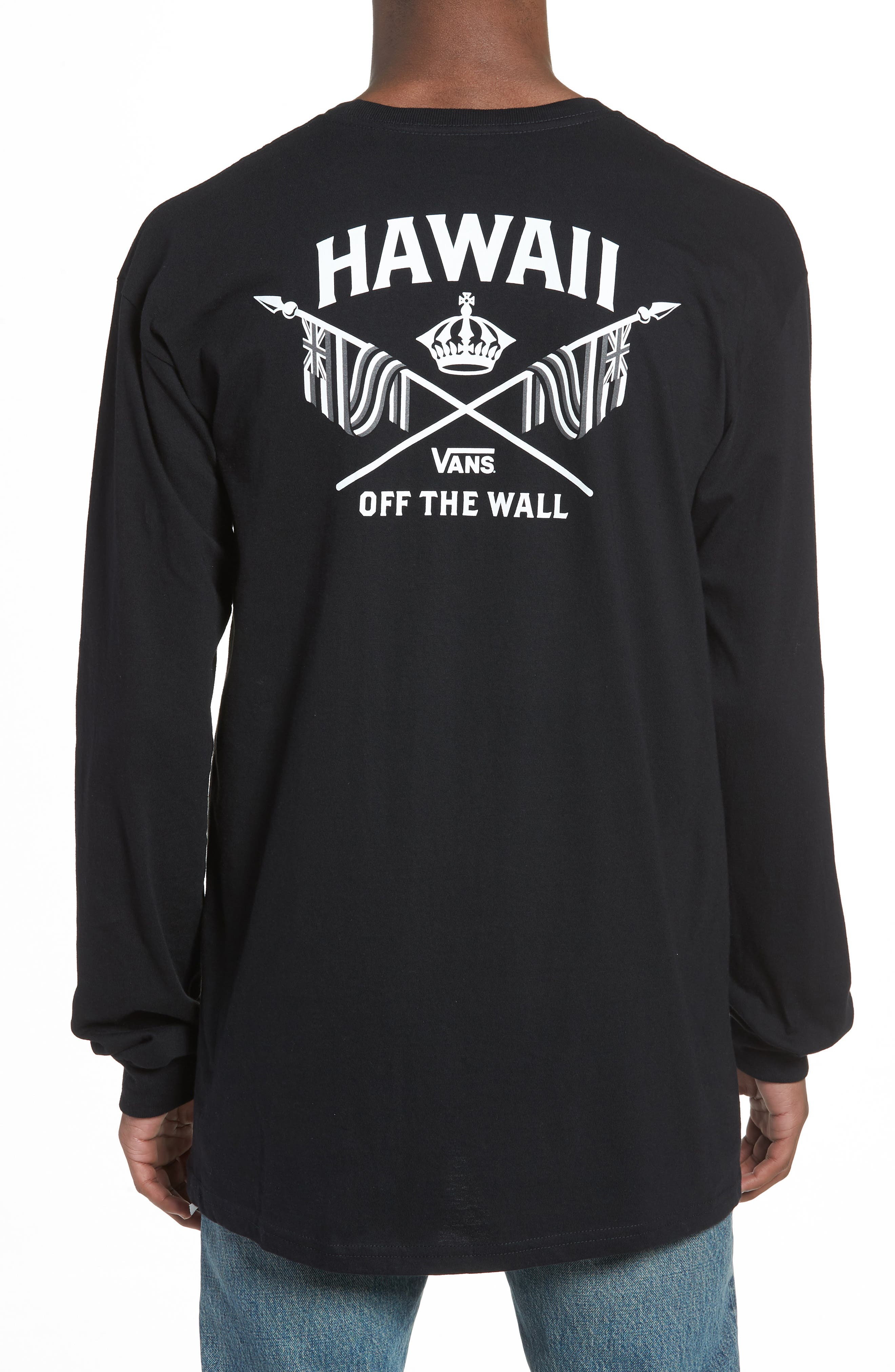 Hawaii Crown Graphic T-Shirt,                             Alternate thumbnail 2, color,                             Black