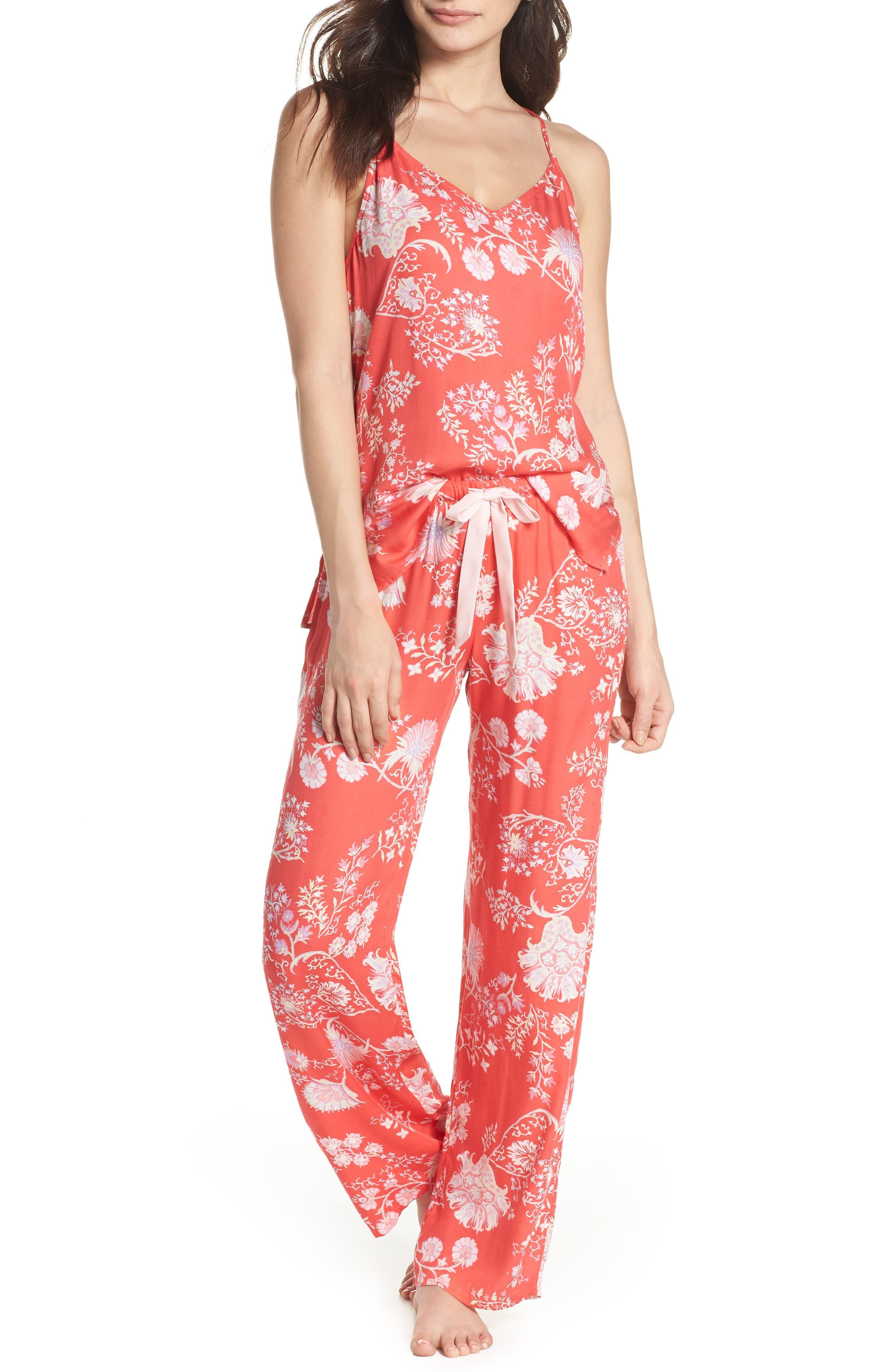 Floral Pajamas,                             Main thumbnail 1, color,                             Tpi Ikebana Pink