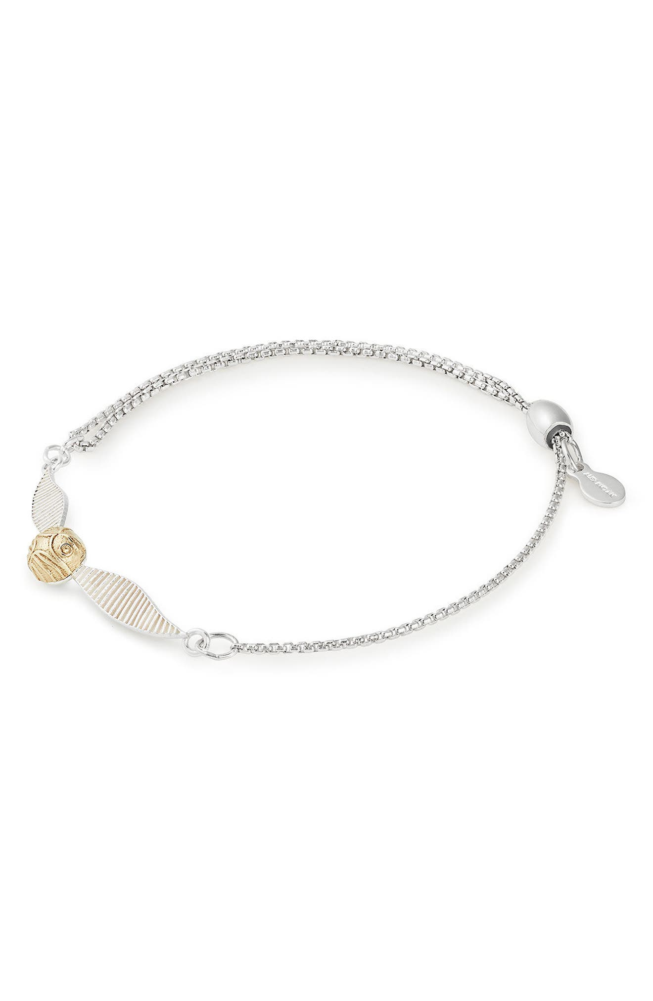 Harry Potter<sup>™</sup> Golden Snitch<sup>™</sup> Pull Chain Bracelet,                             Main thumbnail 1, color,                             Two-Toned