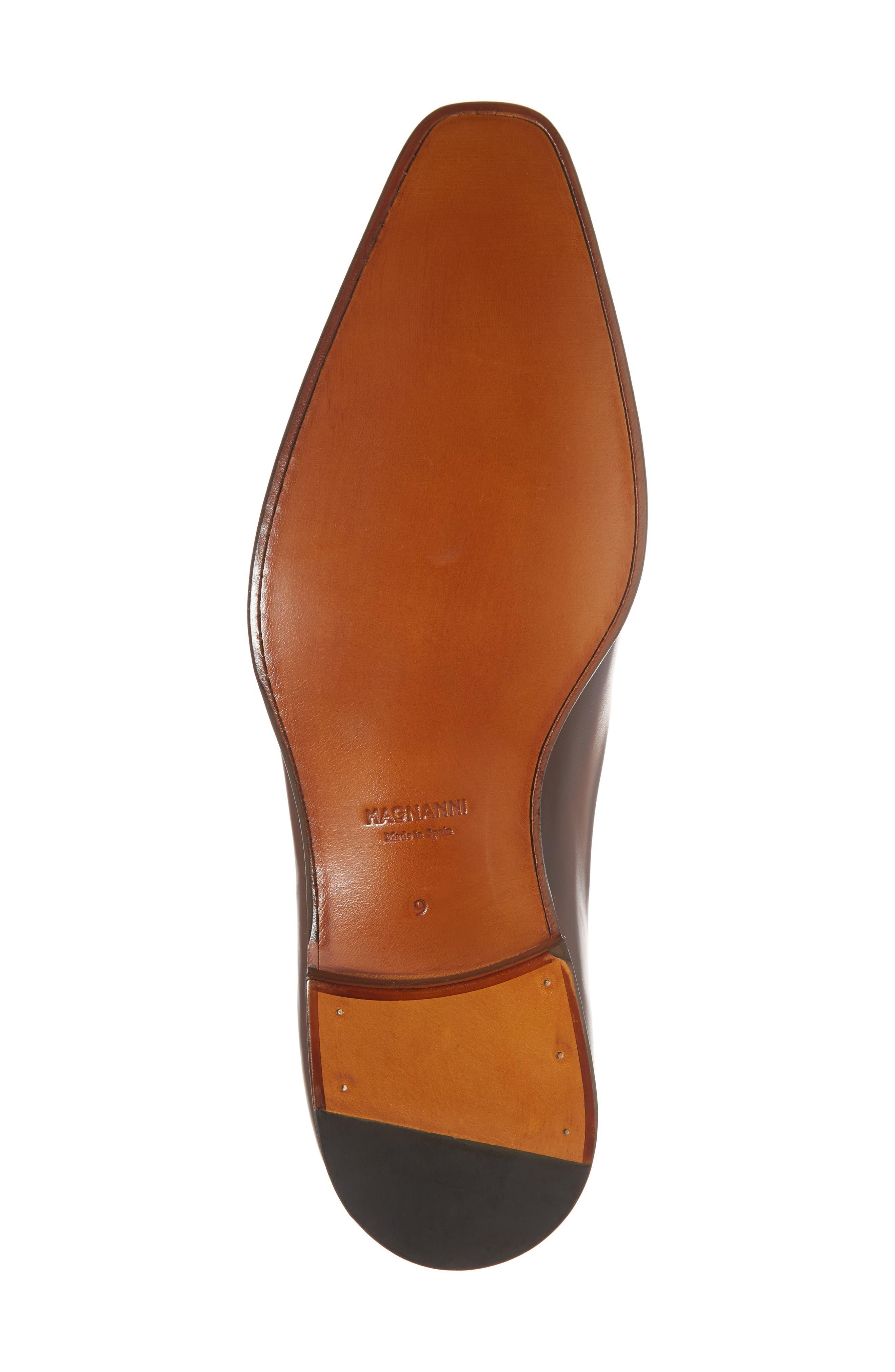 Miles Plain Toe Oxford,                             Alternate thumbnail 6, color,                             Brown Leather