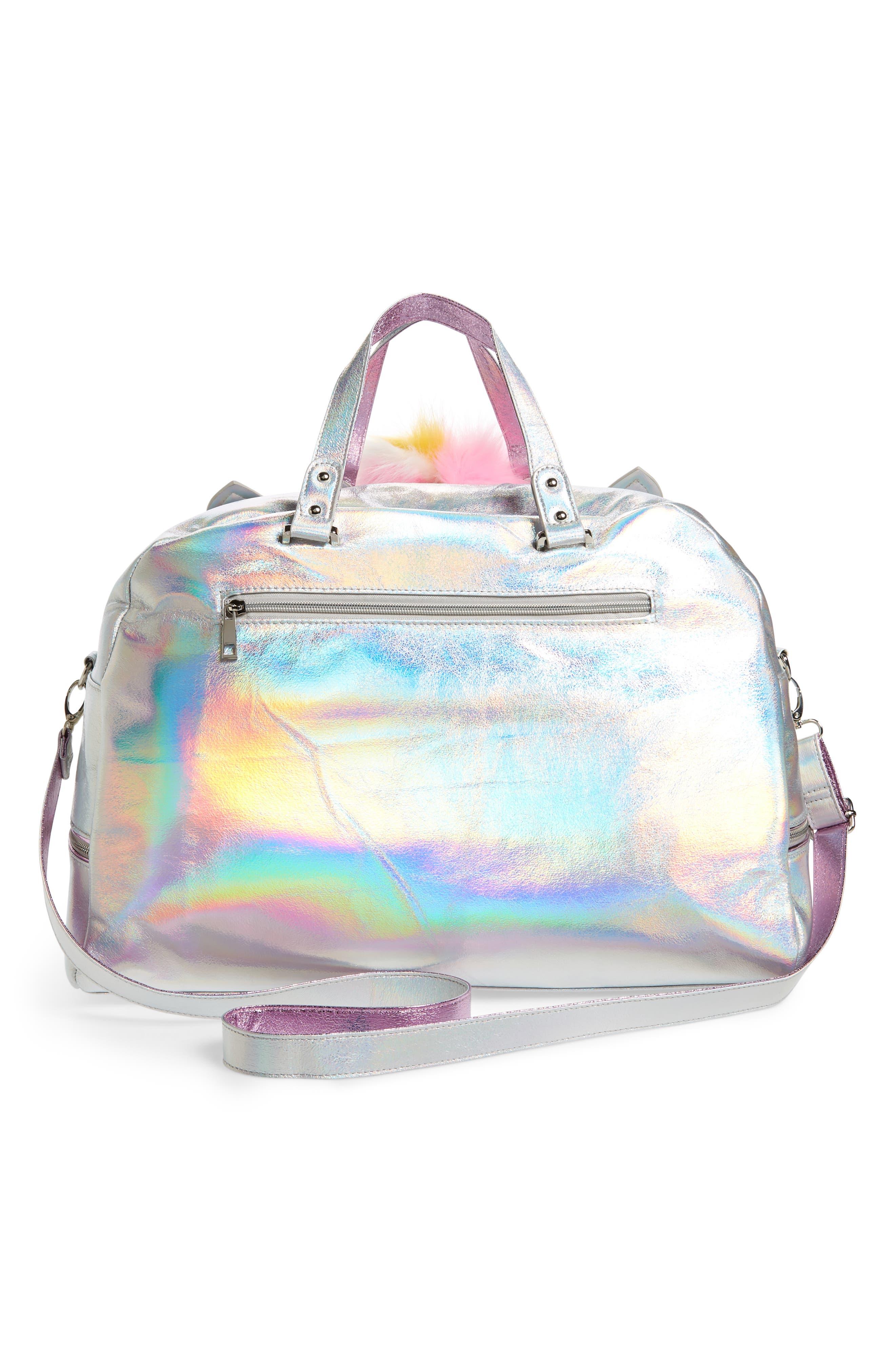 Duffel Bag,                             Alternate thumbnail 2, color,                             Silver Iridescent Unicorn