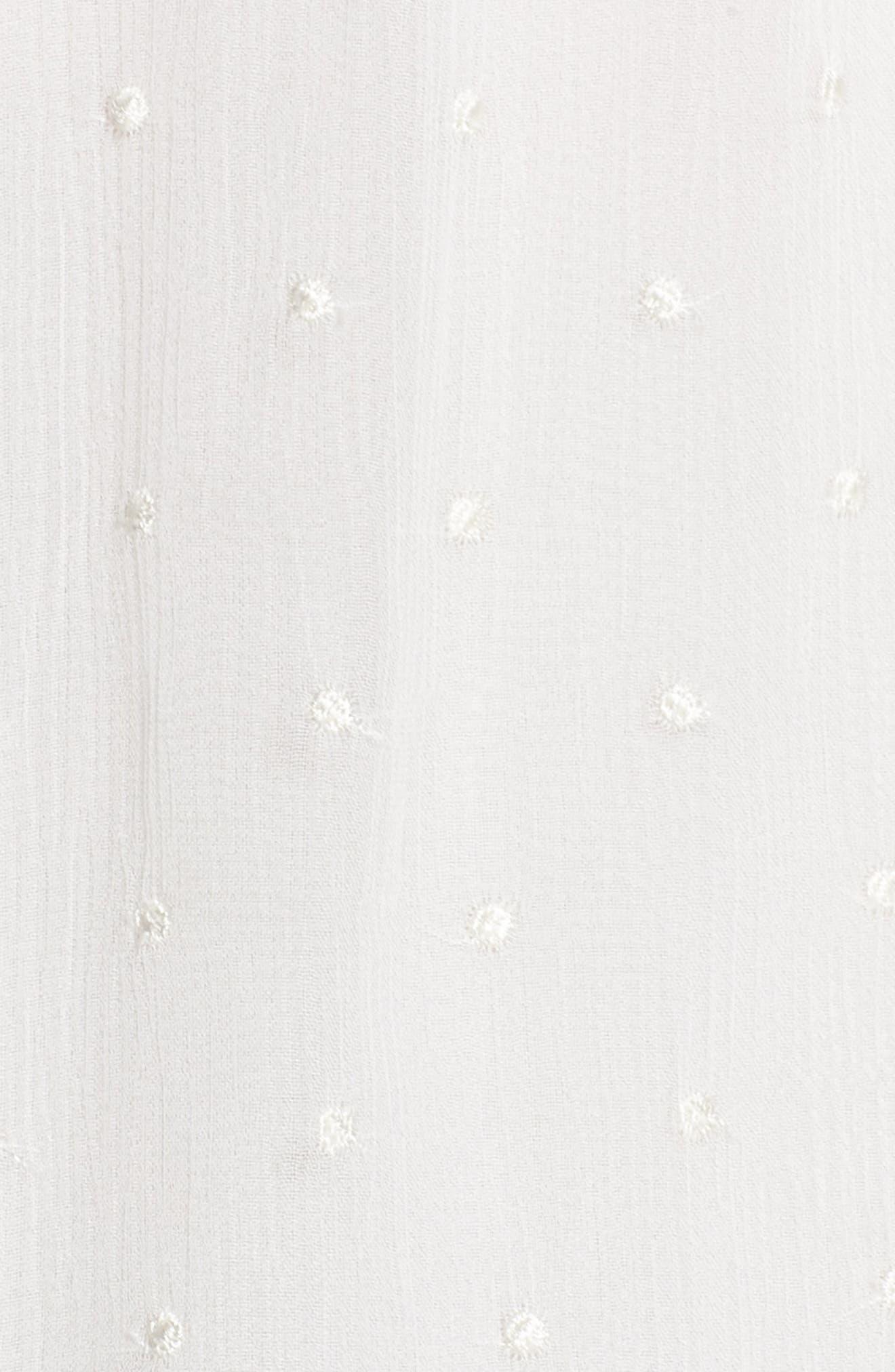 Enchantment Ruffle Chiffon Minidress,                             Alternate thumbnail 5, color,                             White