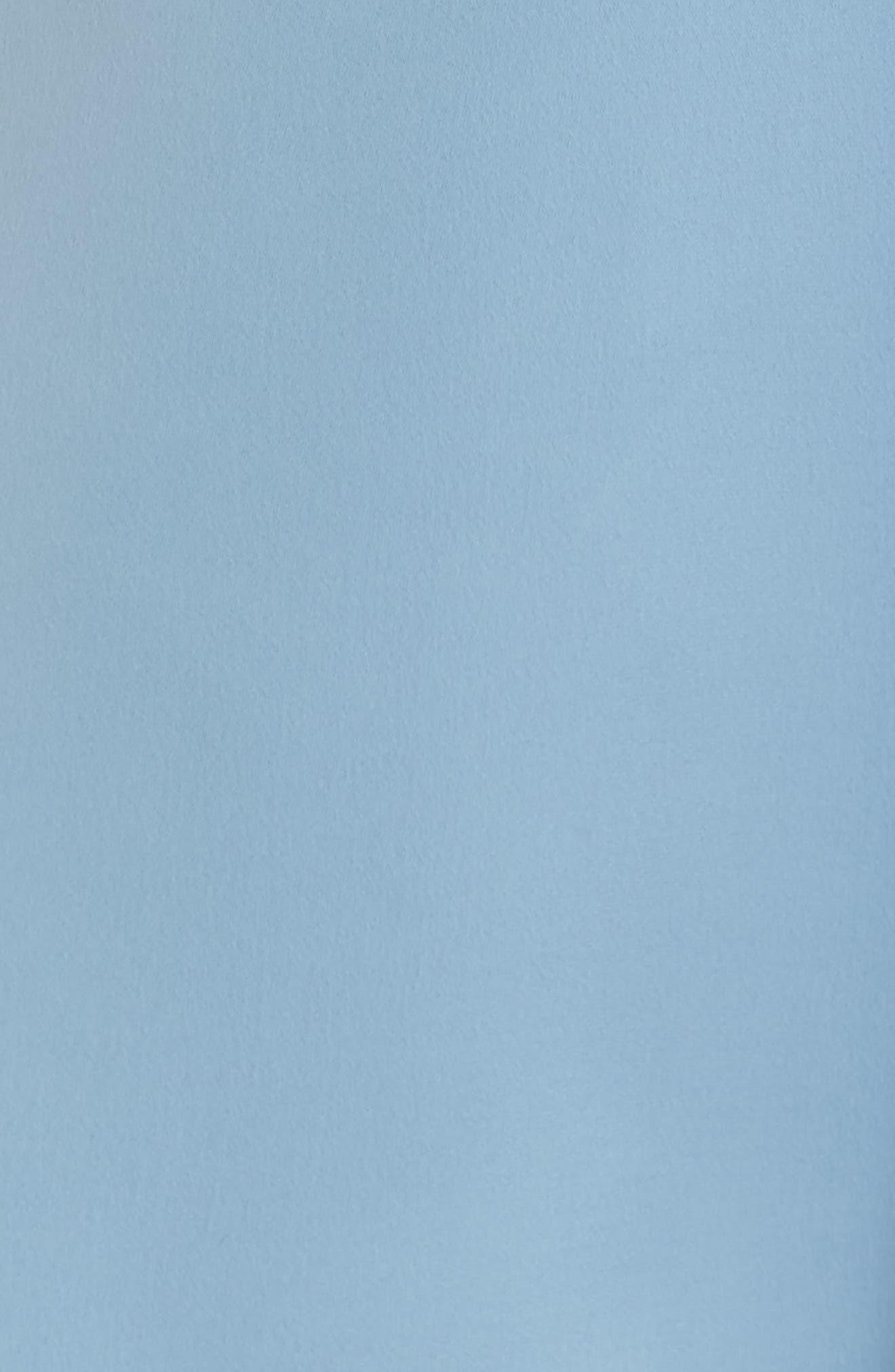 Marilyn Satin Fit & Flare Dress,                             Alternate thumbnail 7, color,                             Cornflower