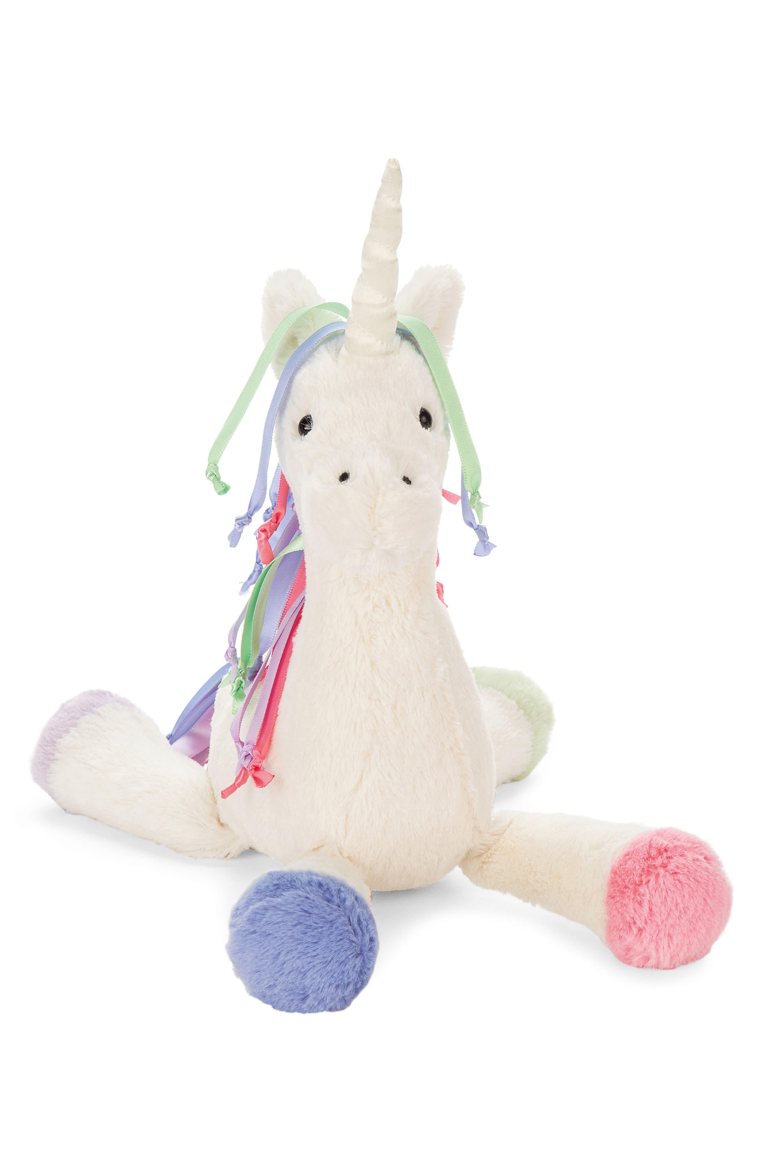 Lollopylou Unicorn Chime Stuffed Animal,                             Main thumbnail 1, color,                             Cream