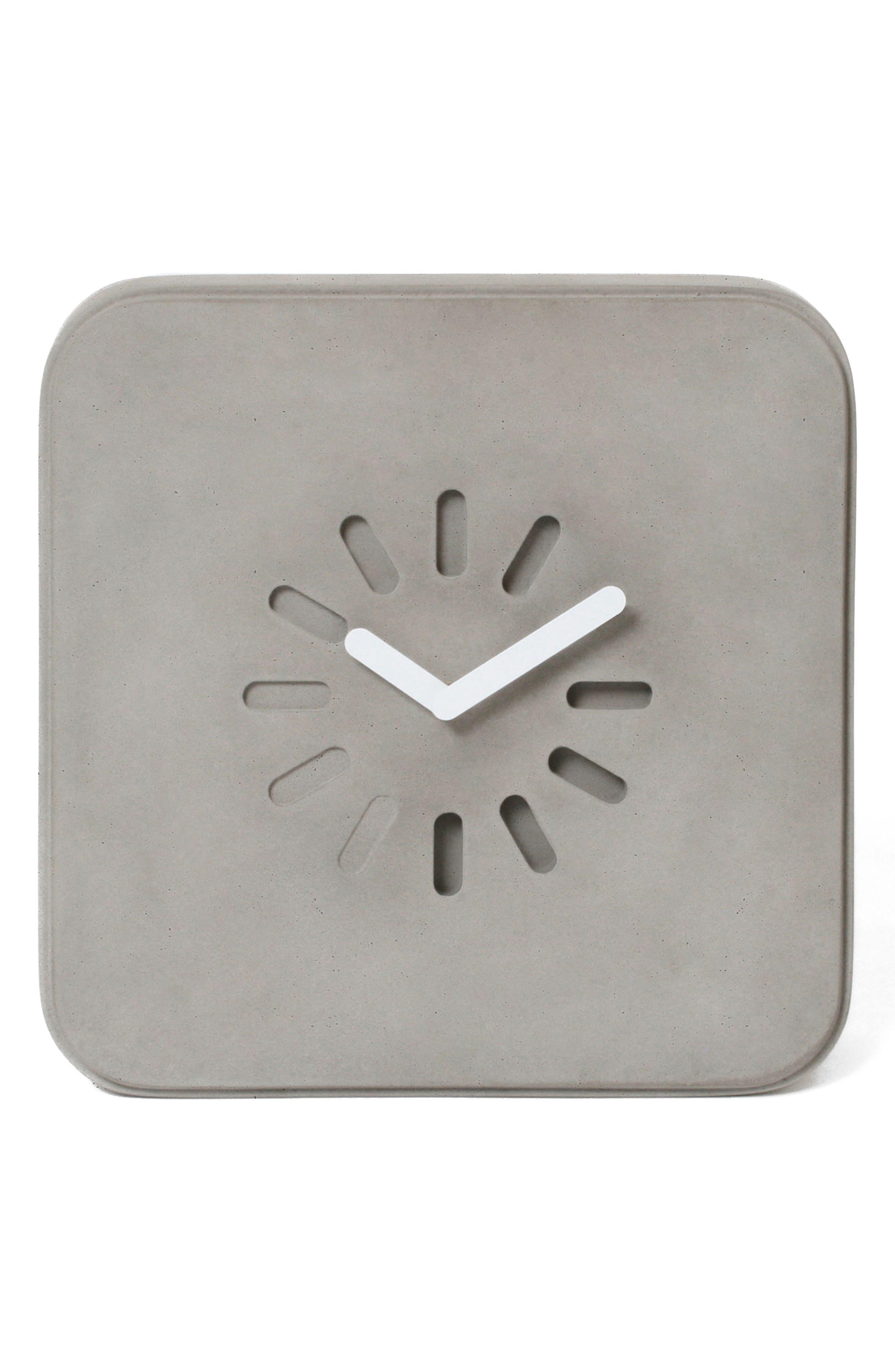 Lyon Béton Life in Progress Clock,                             Main thumbnail 1, color,                             Cement