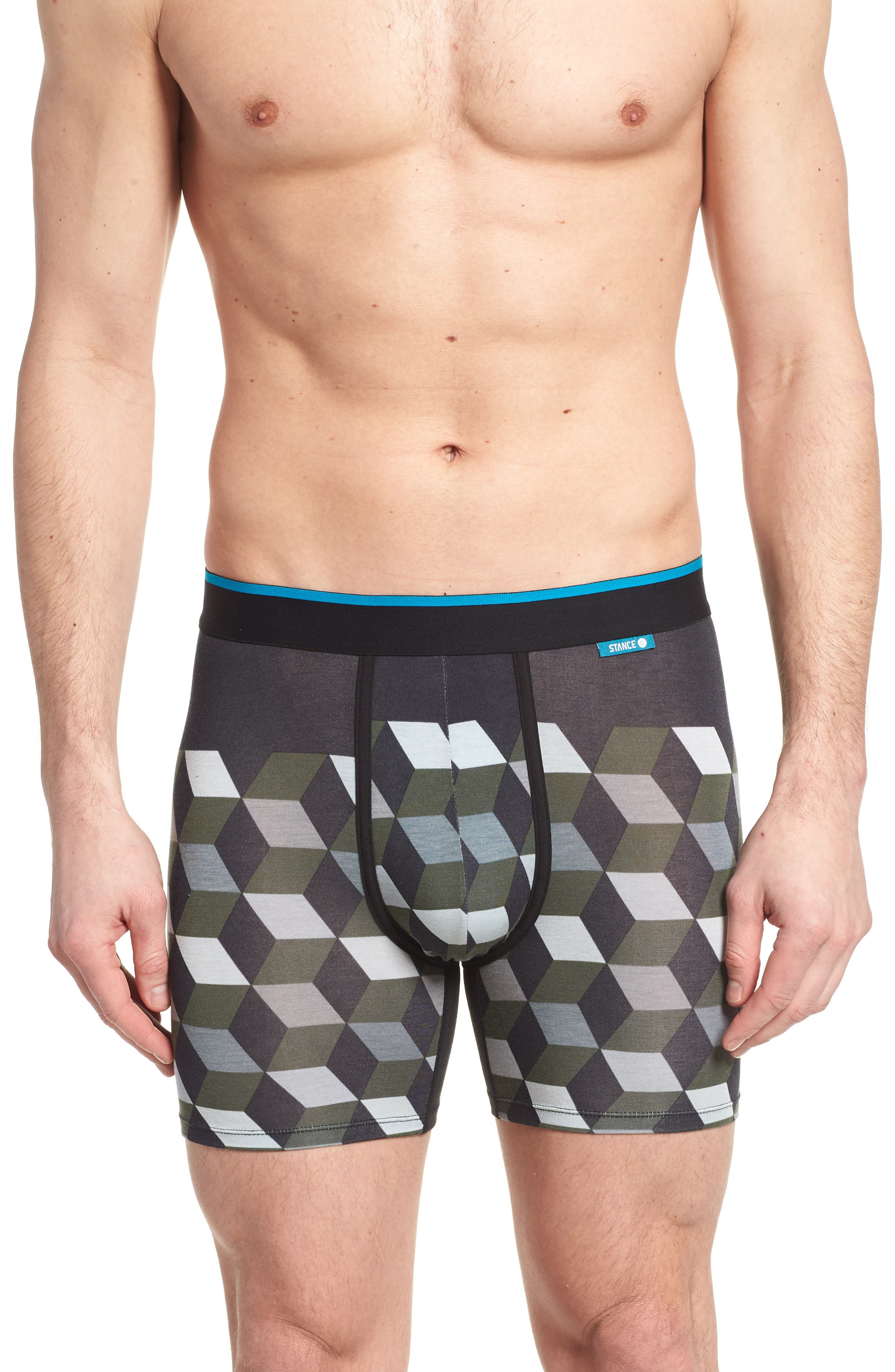 Cubes Wholester Boxer Briefs,                         Main,                         color, Grey