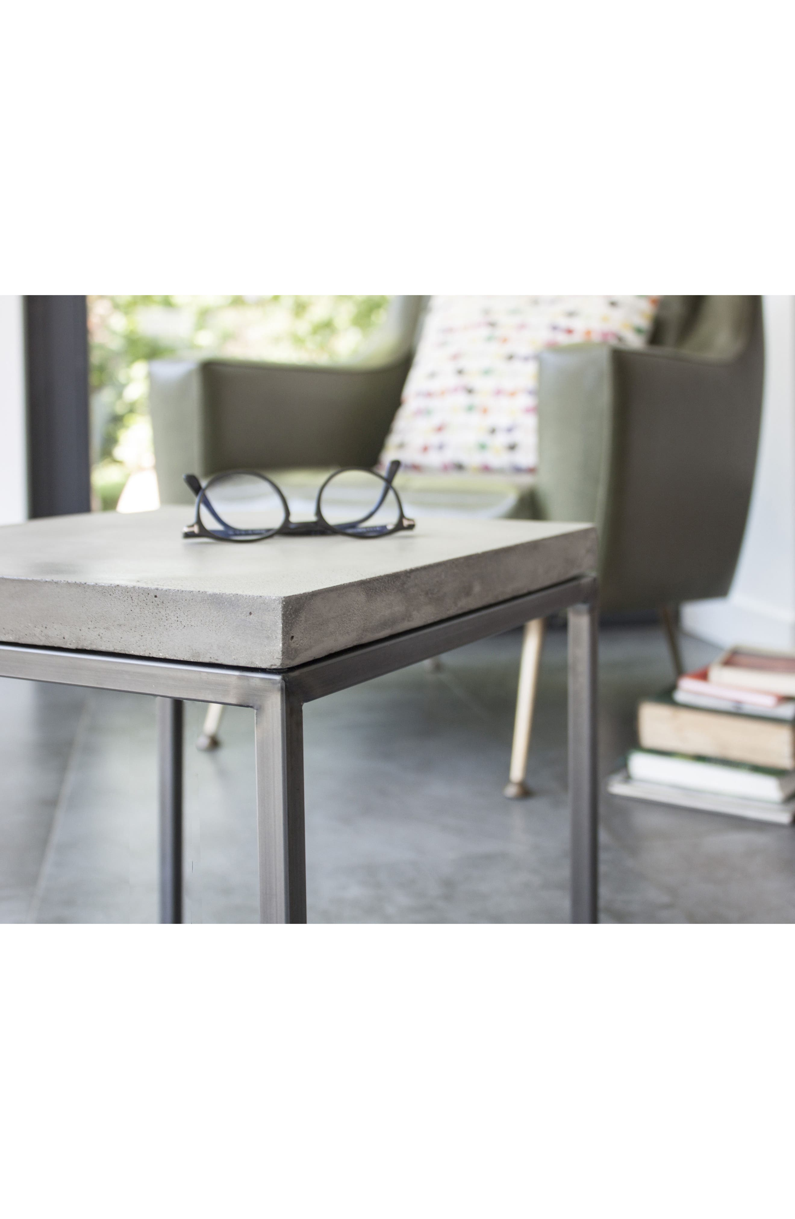 Lyon Béton Perspective Side Table,                             Alternate thumbnail 4, color,