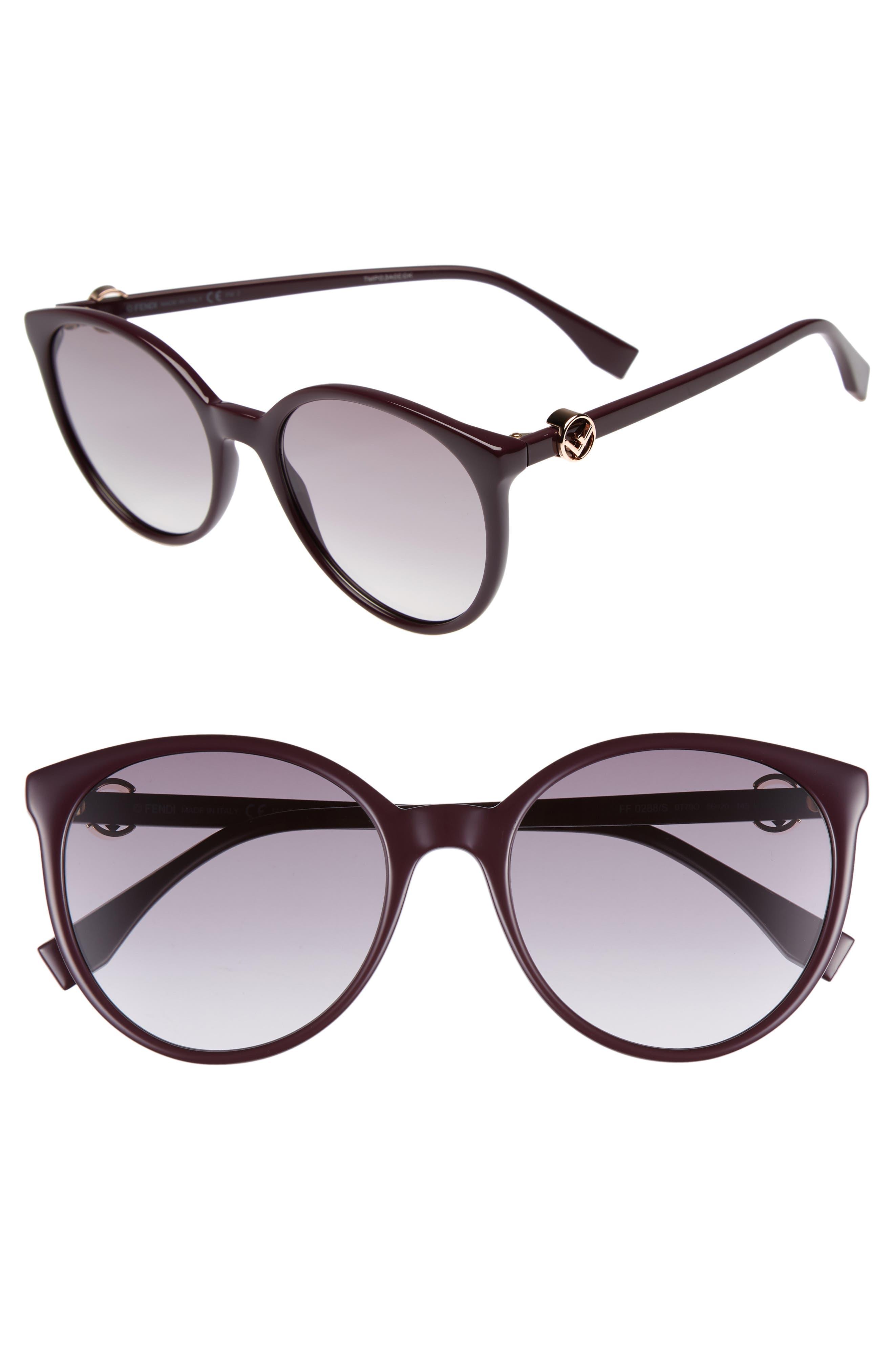 Fendi 56mm Retro Sunglasses