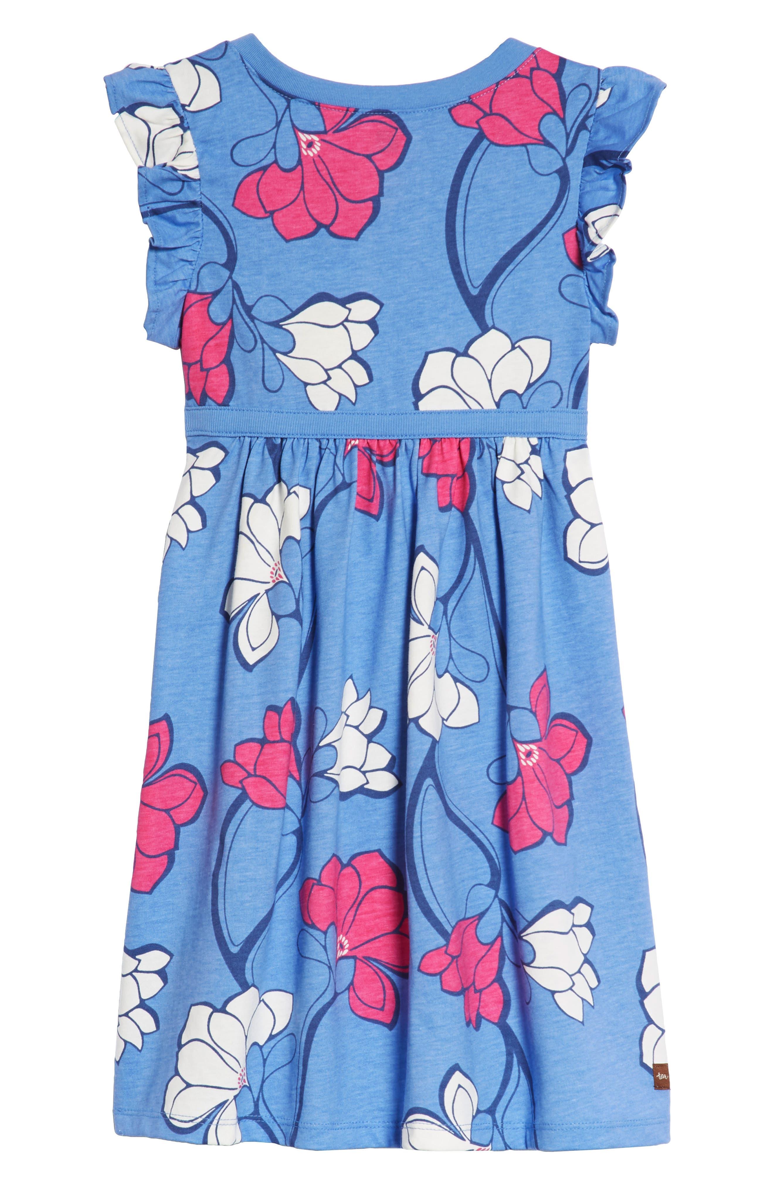 Alternate Image 2  - Tea Collection Wrap Neck Dress (Toddler Girls, Little Girls & Big Girls)