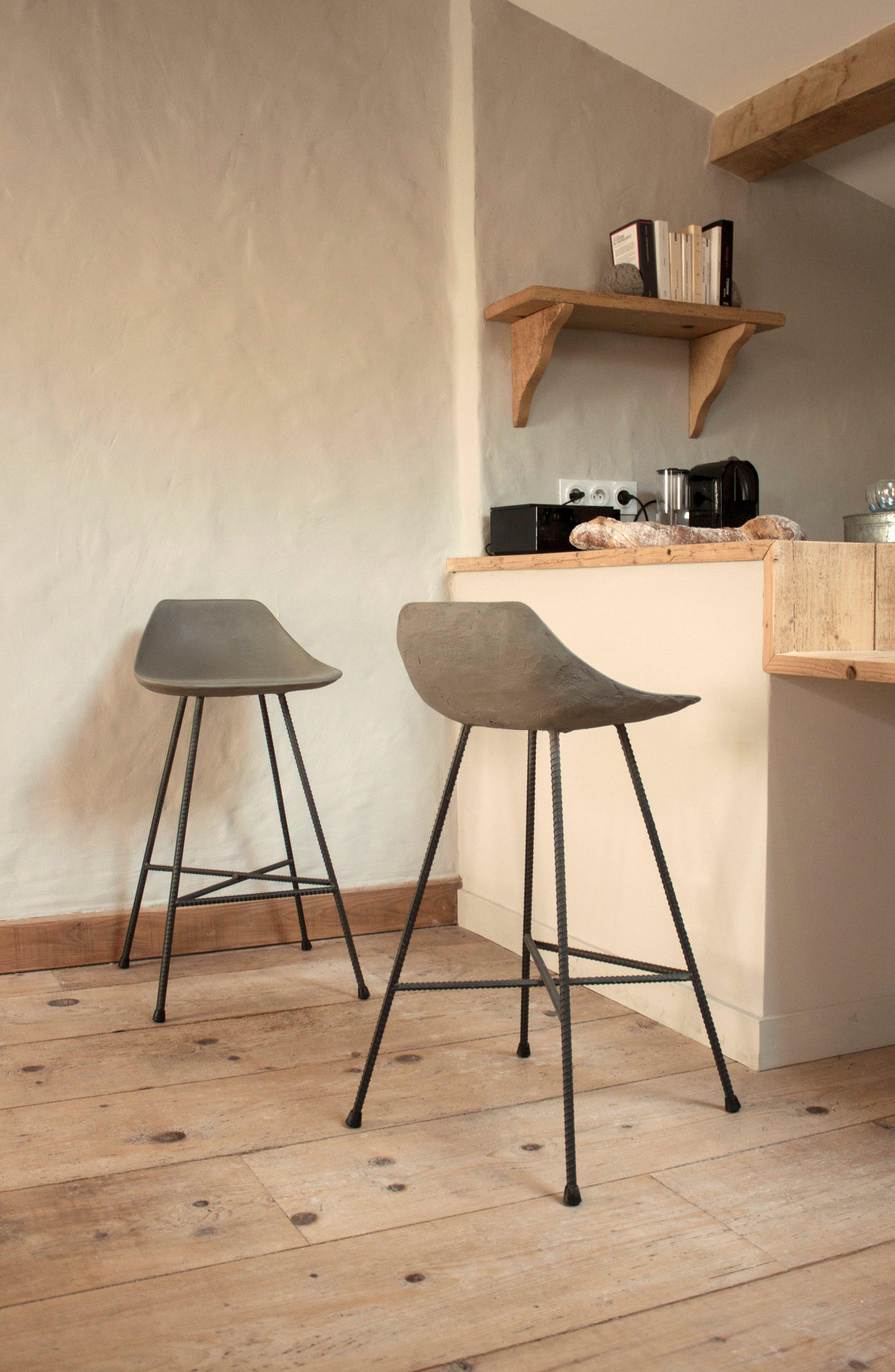 Lyon Béton Hauteville Counter Chair,                             Alternate thumbnail 5, color,