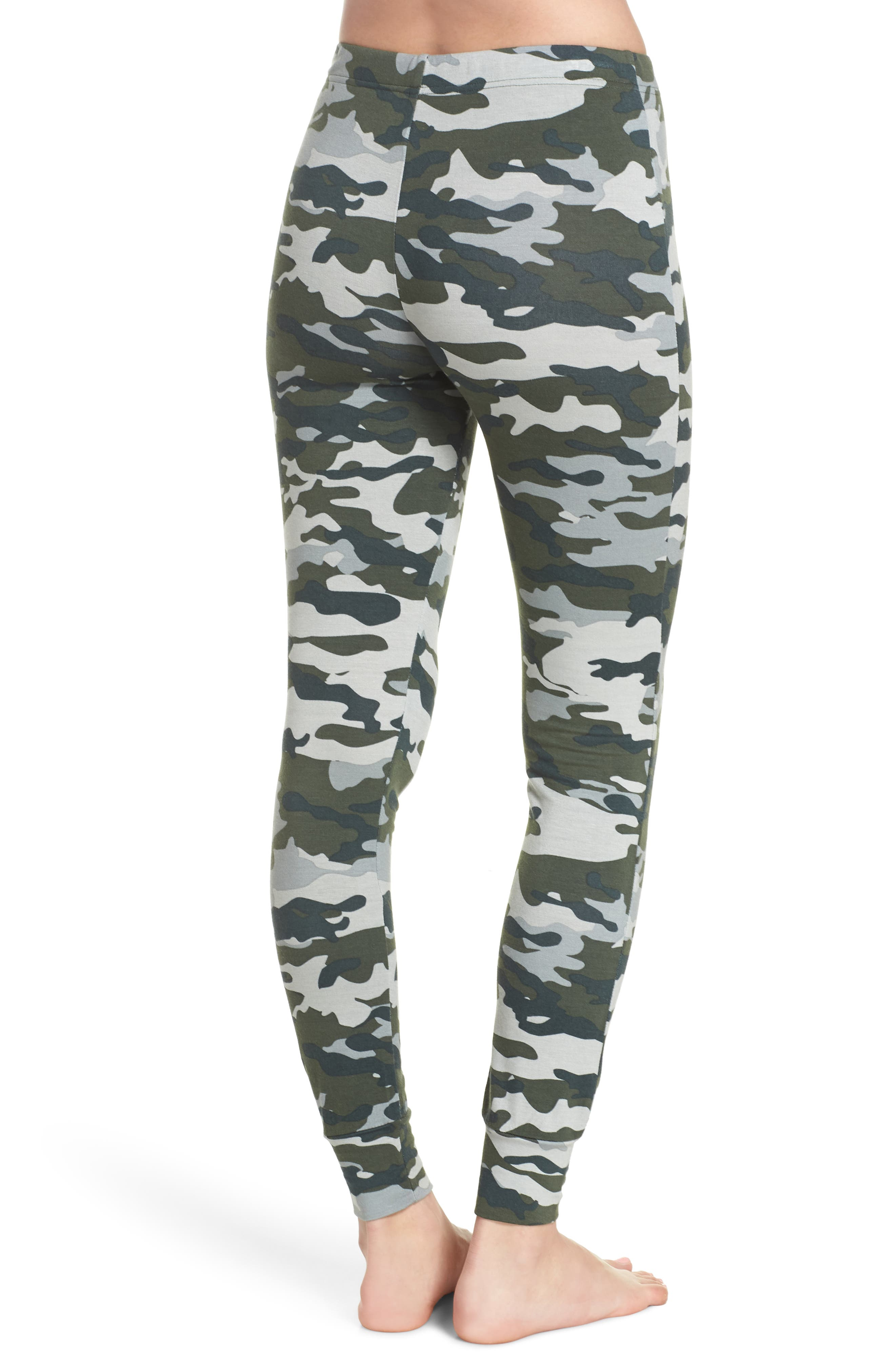 Kickin' It French Terry Lounge Pants,                             Alternate thumbnail 2, color,                             Army