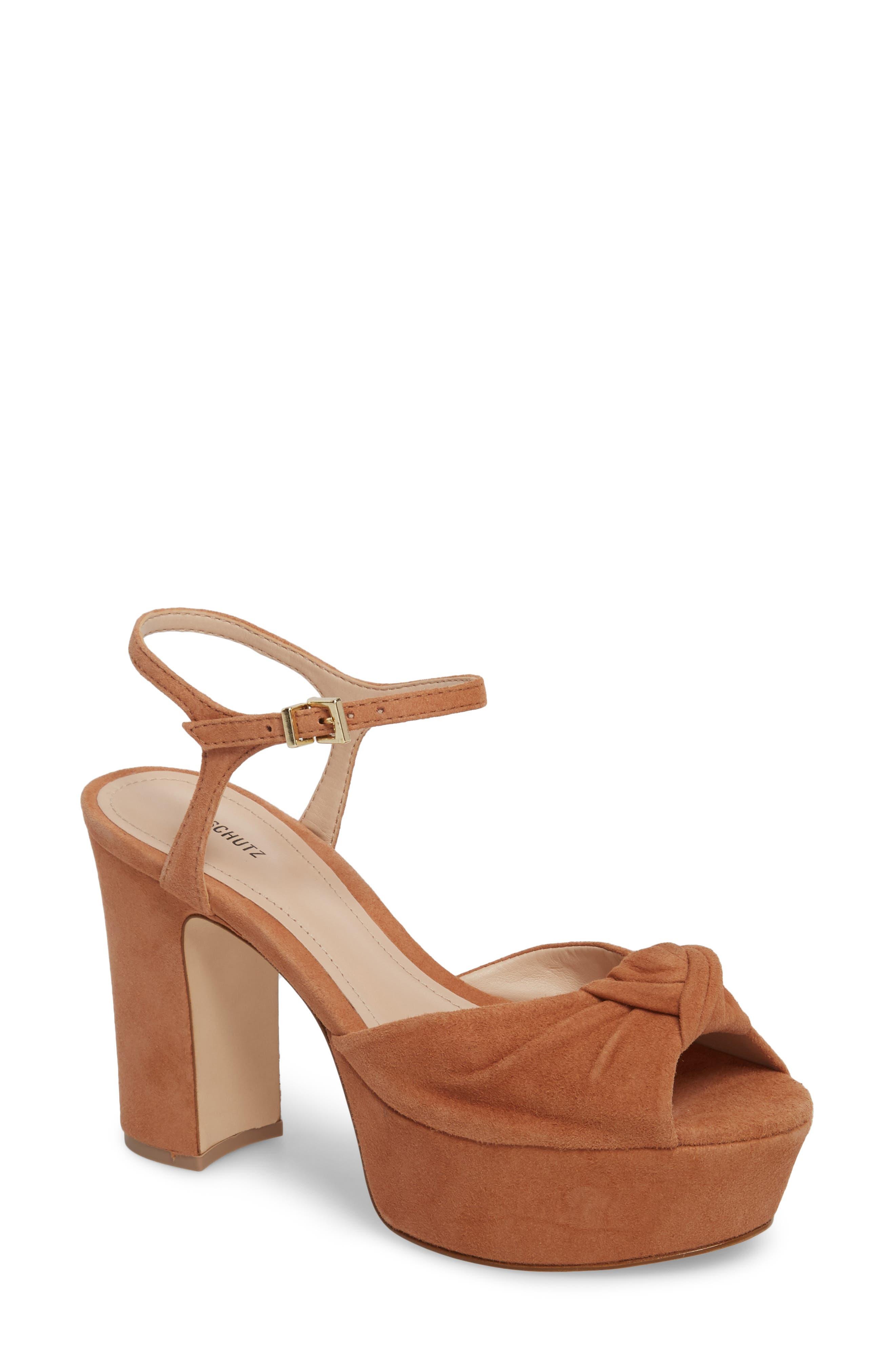 Thalyta Platform Sandal,                         Main,                         color, Toasted Nut