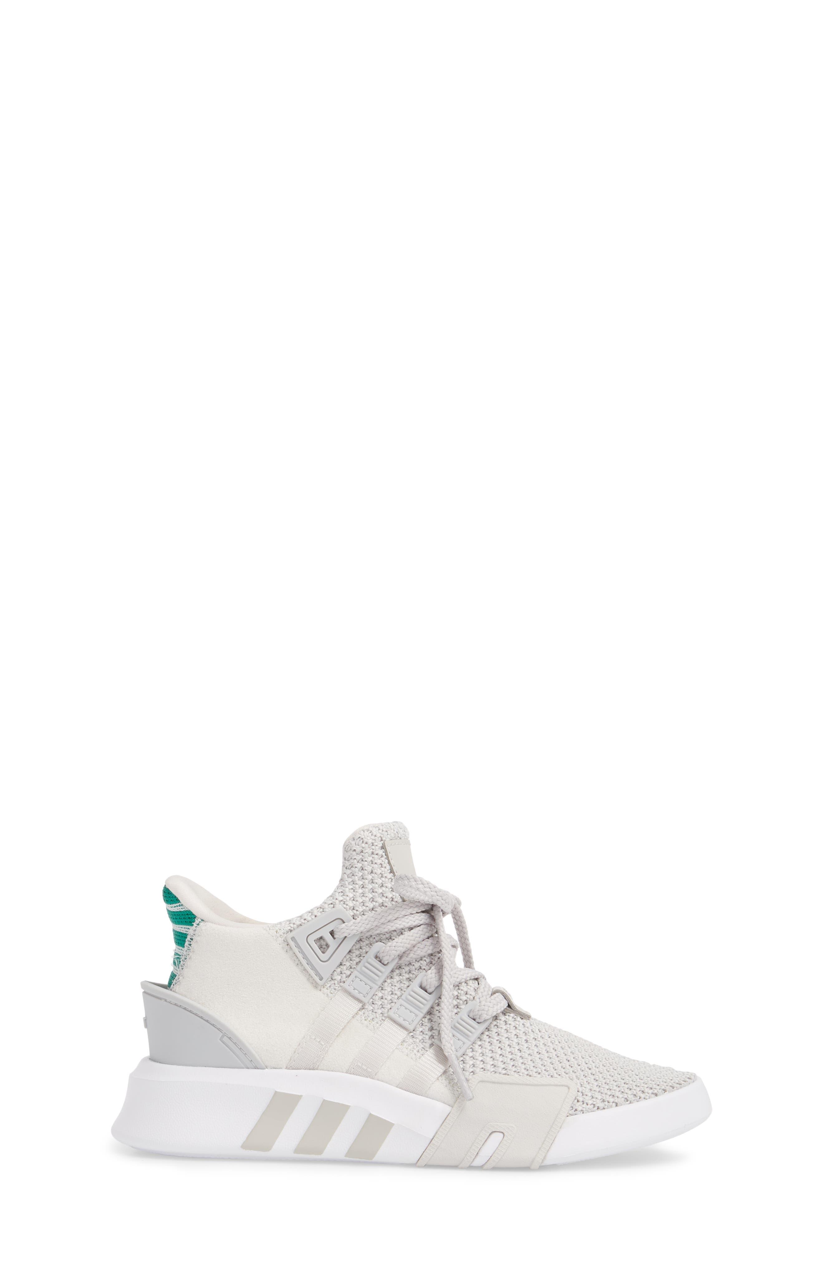 EQT Basketball ADV I Sneaker,                             Alternate thumbnail 3, color,                             Grey / Grey / Green