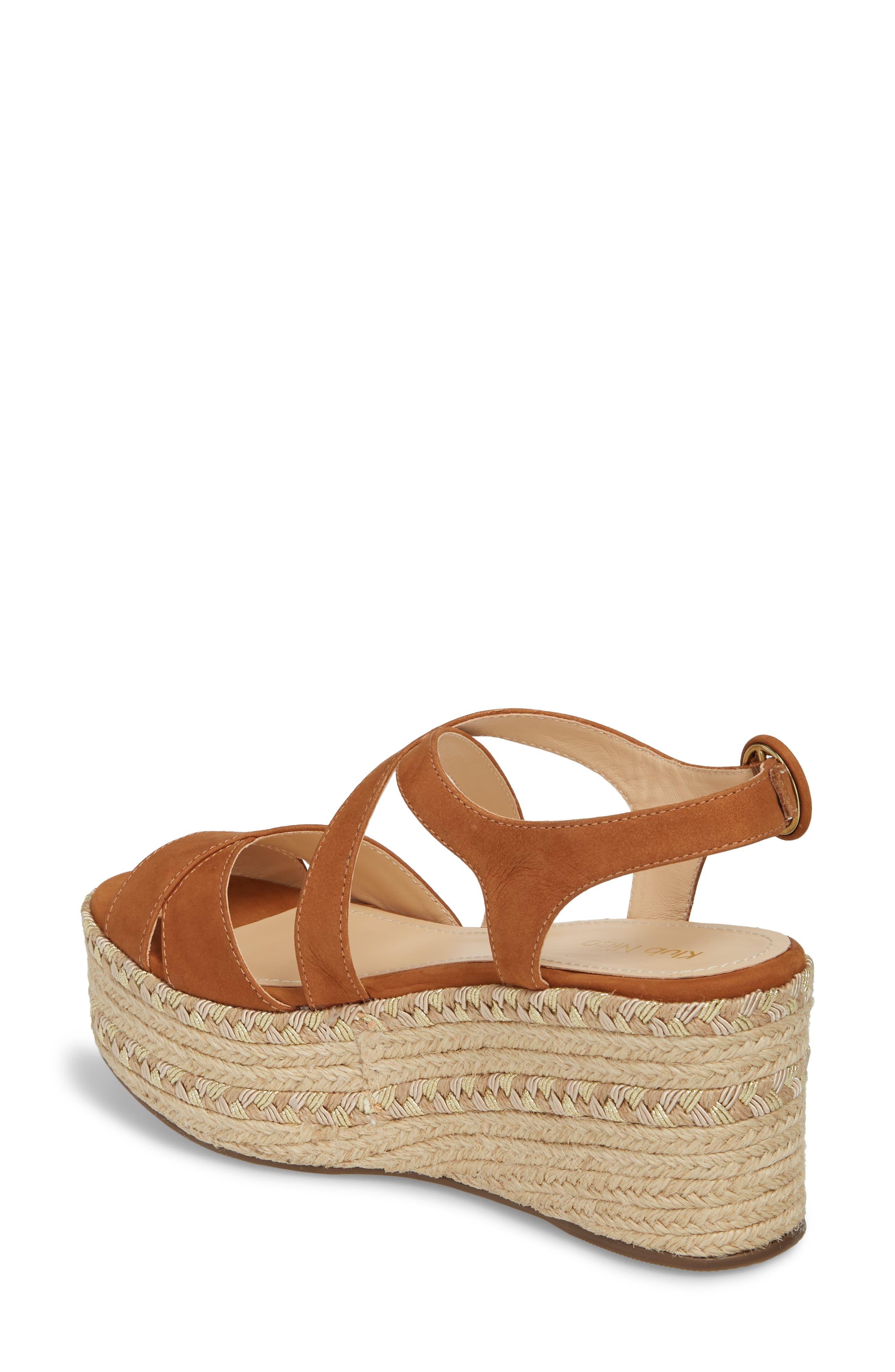 Vikki Espadrille Platform Sandal,                             Alternate thumbnail 2, color,                             Tan Leather