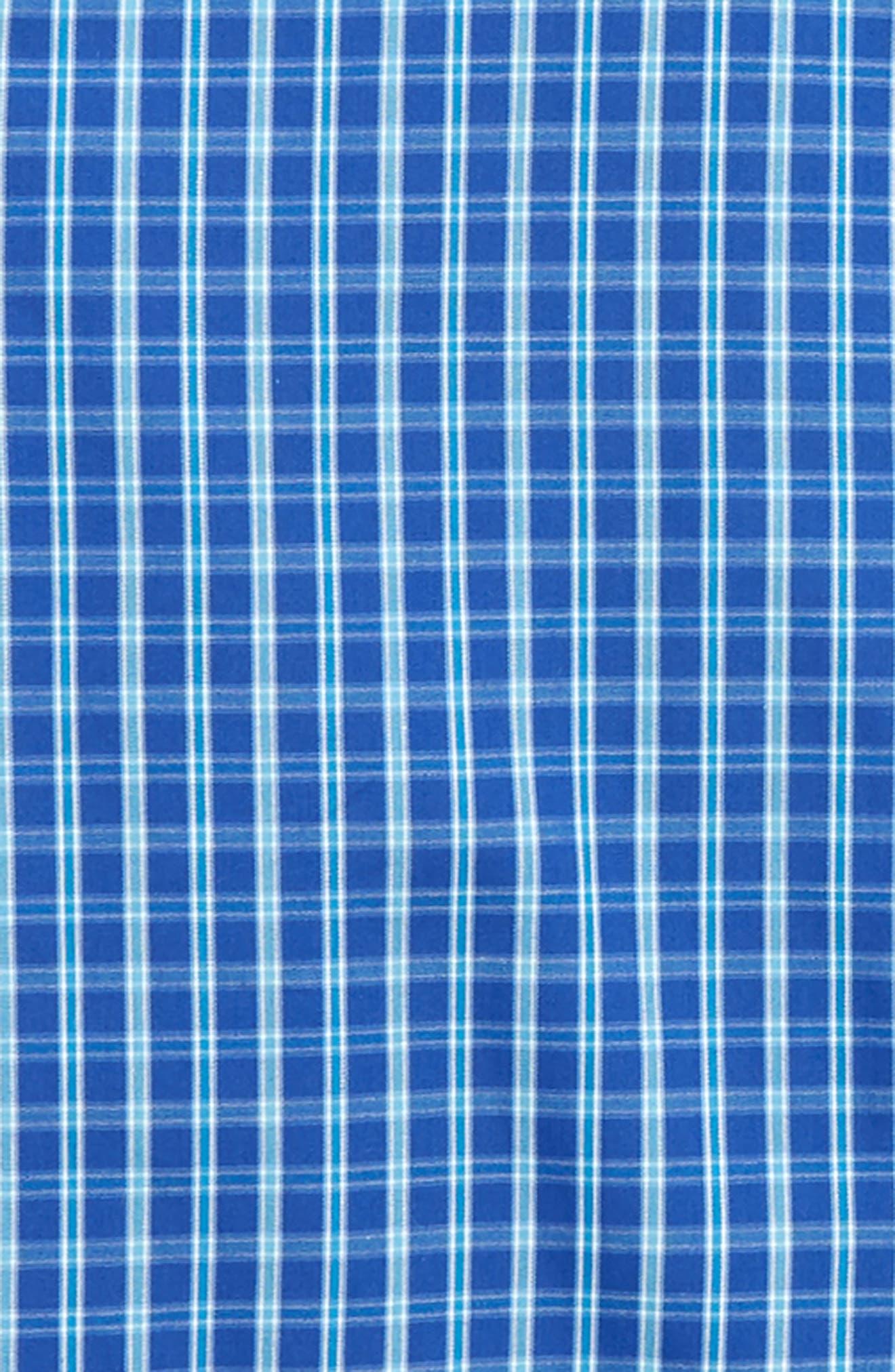 Plaid Dress Shirt,                             Alternate thumbnail 2, color,                             Blue Marine Plaid