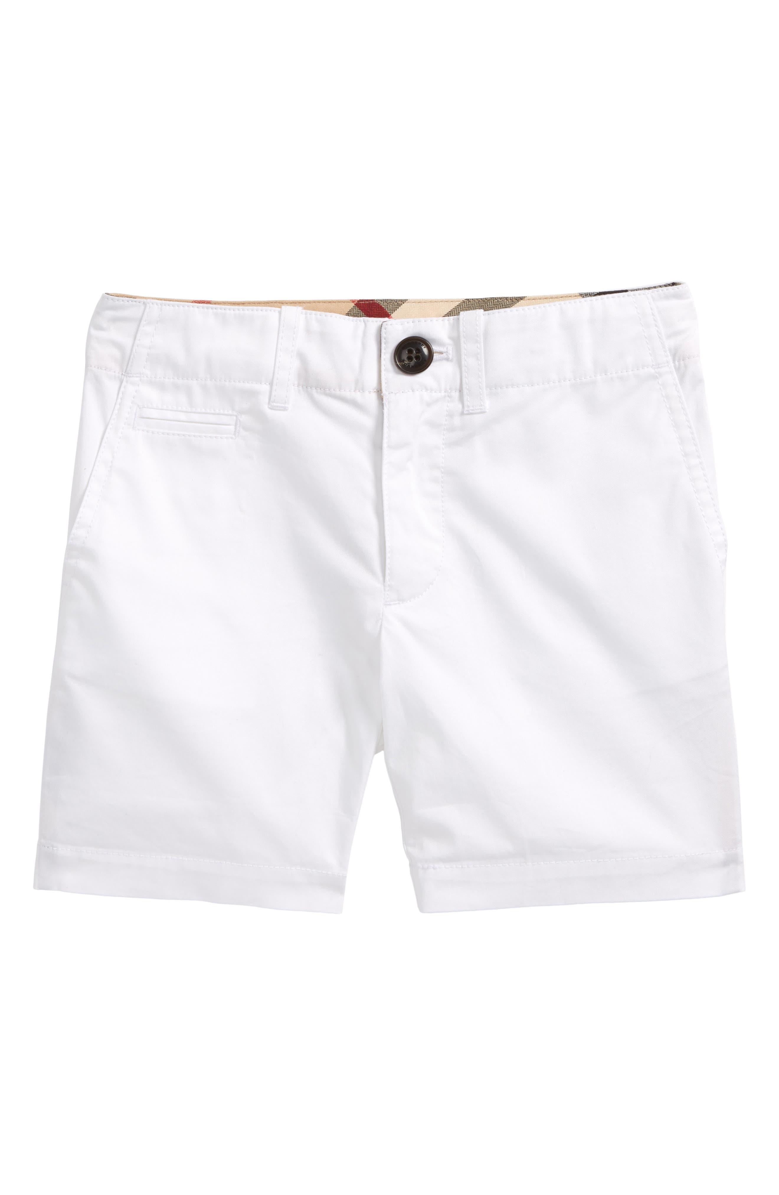 Tina Cotton Twill Shorts,                         Main,                         color, White
