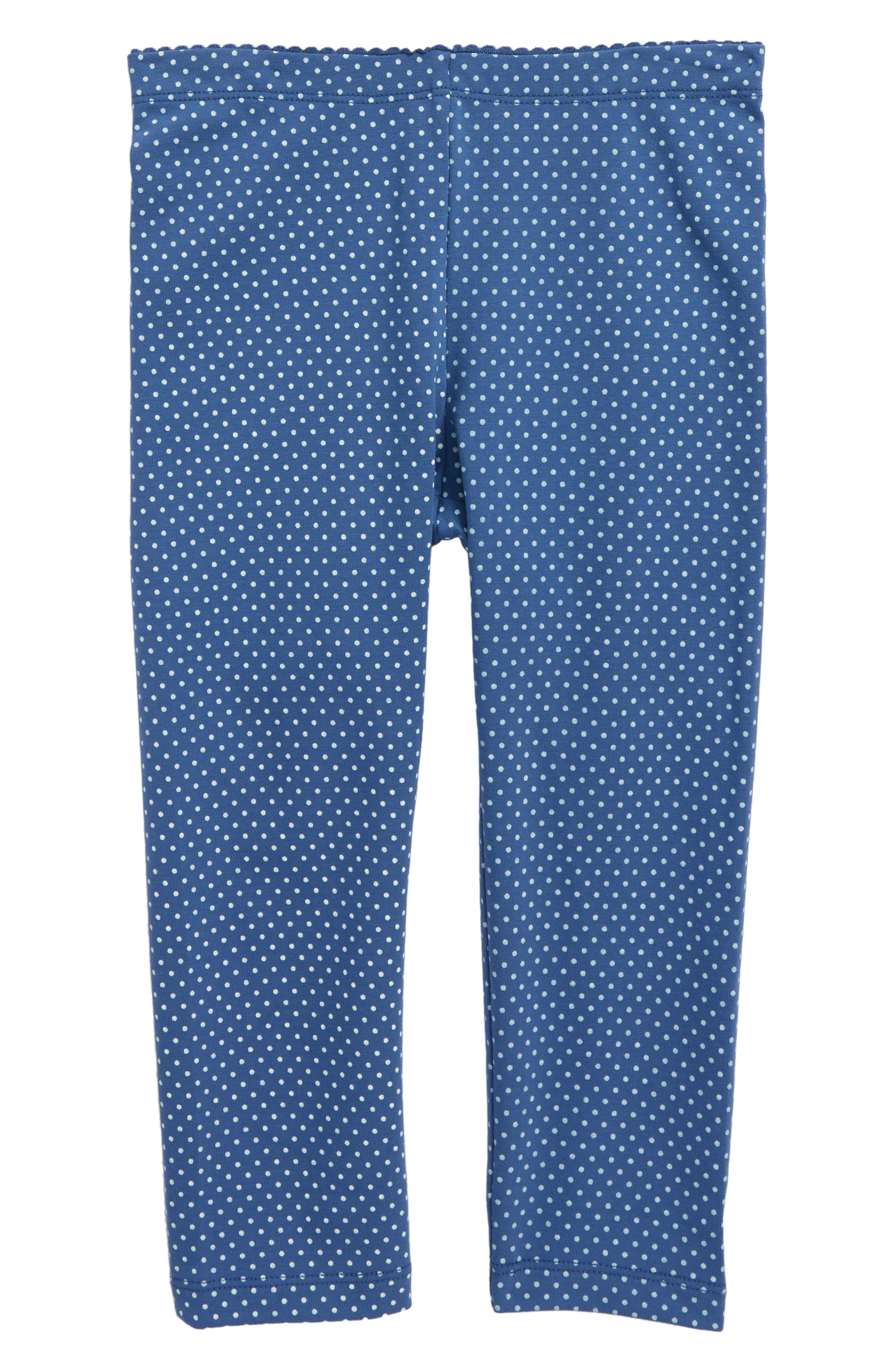 Pin Dot Capri Leggings,                         Main,                         color, Cobalt