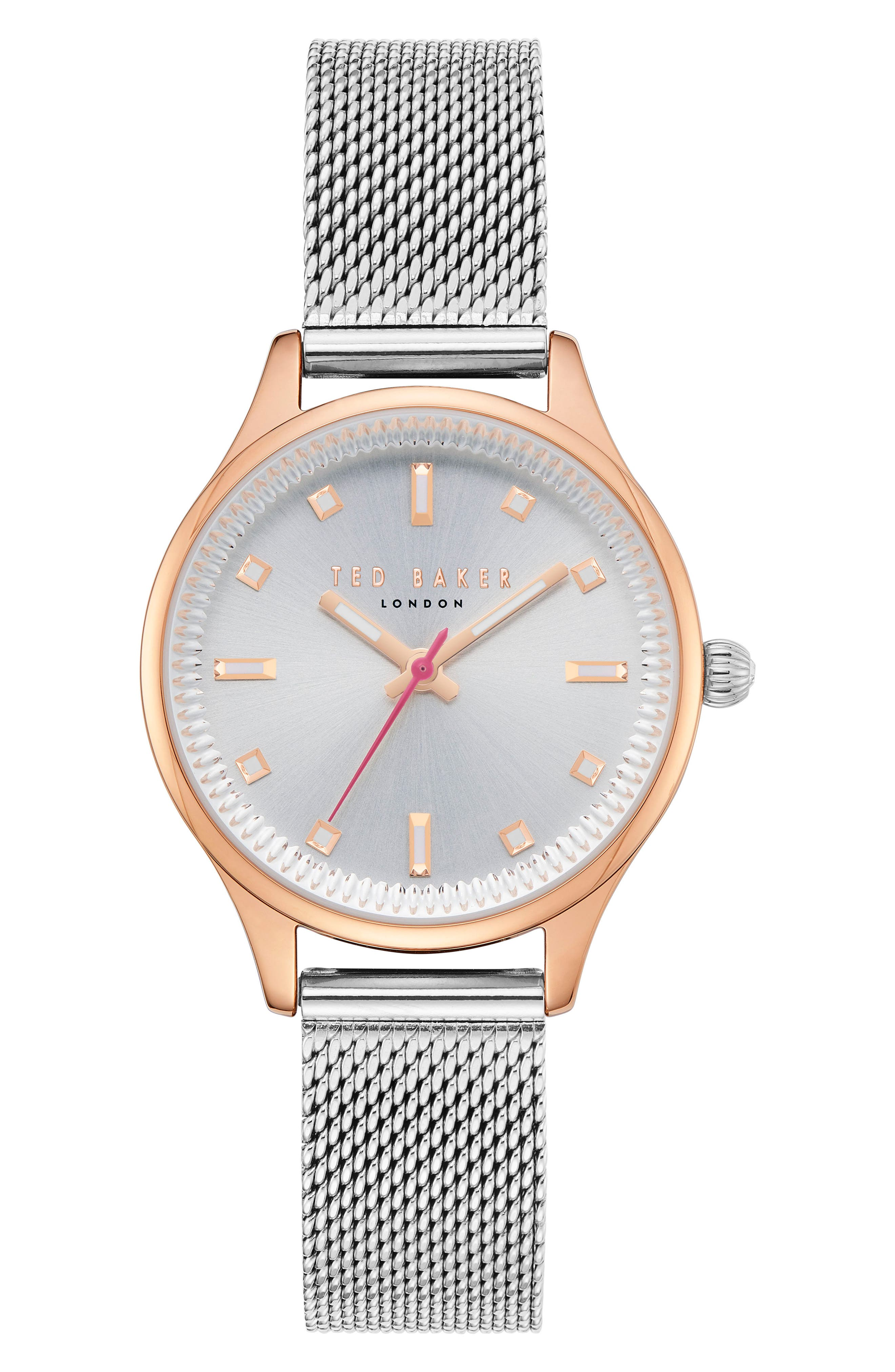Ted Baker London Zoe Mesh Strap Watch, 32mm