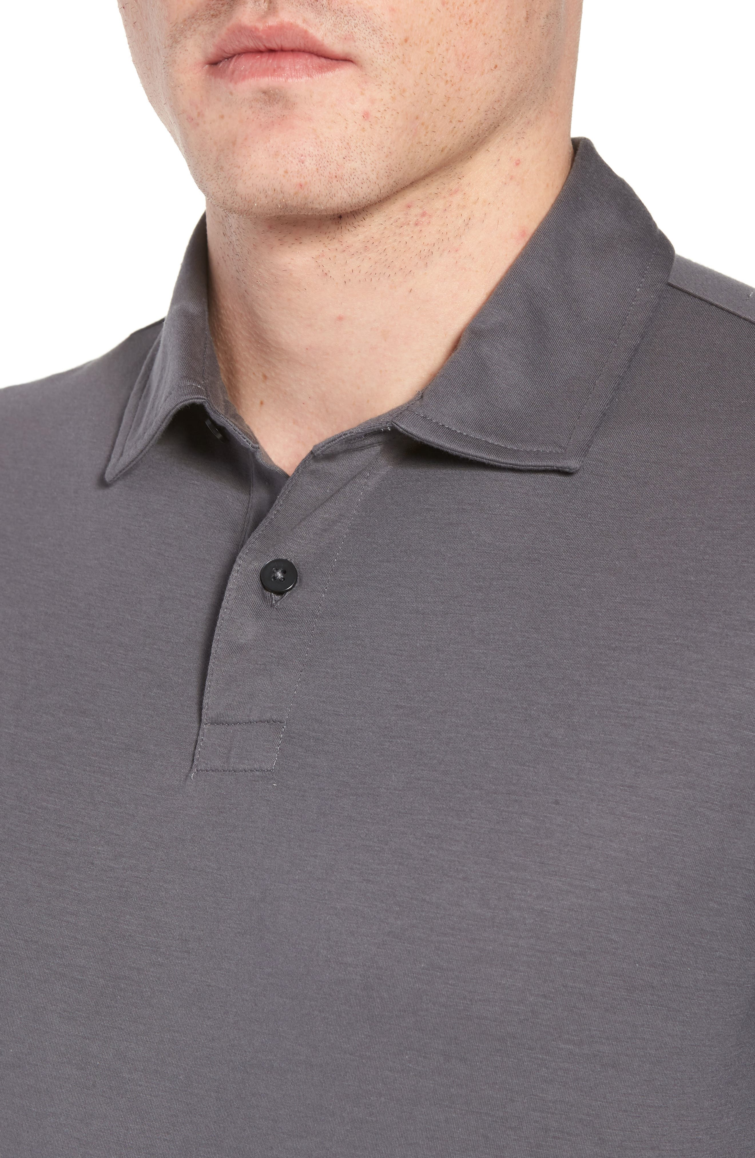 Refined Jersey Polo,                             Alternate thumbnail 4, color,                             Thundercloud