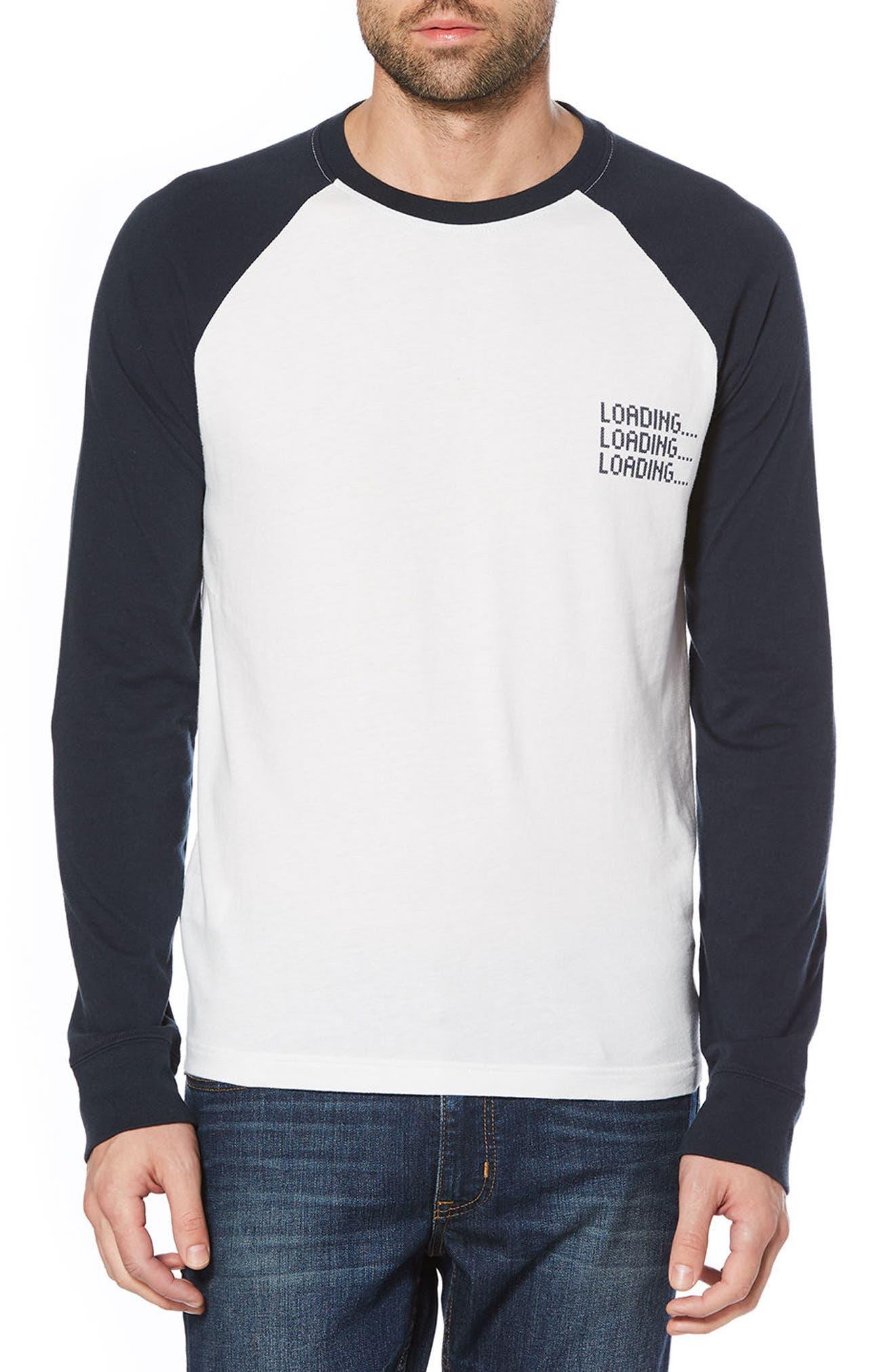 Loading Baseball T-Shirt,                             Main thumbnail 1, color,                             Bright White