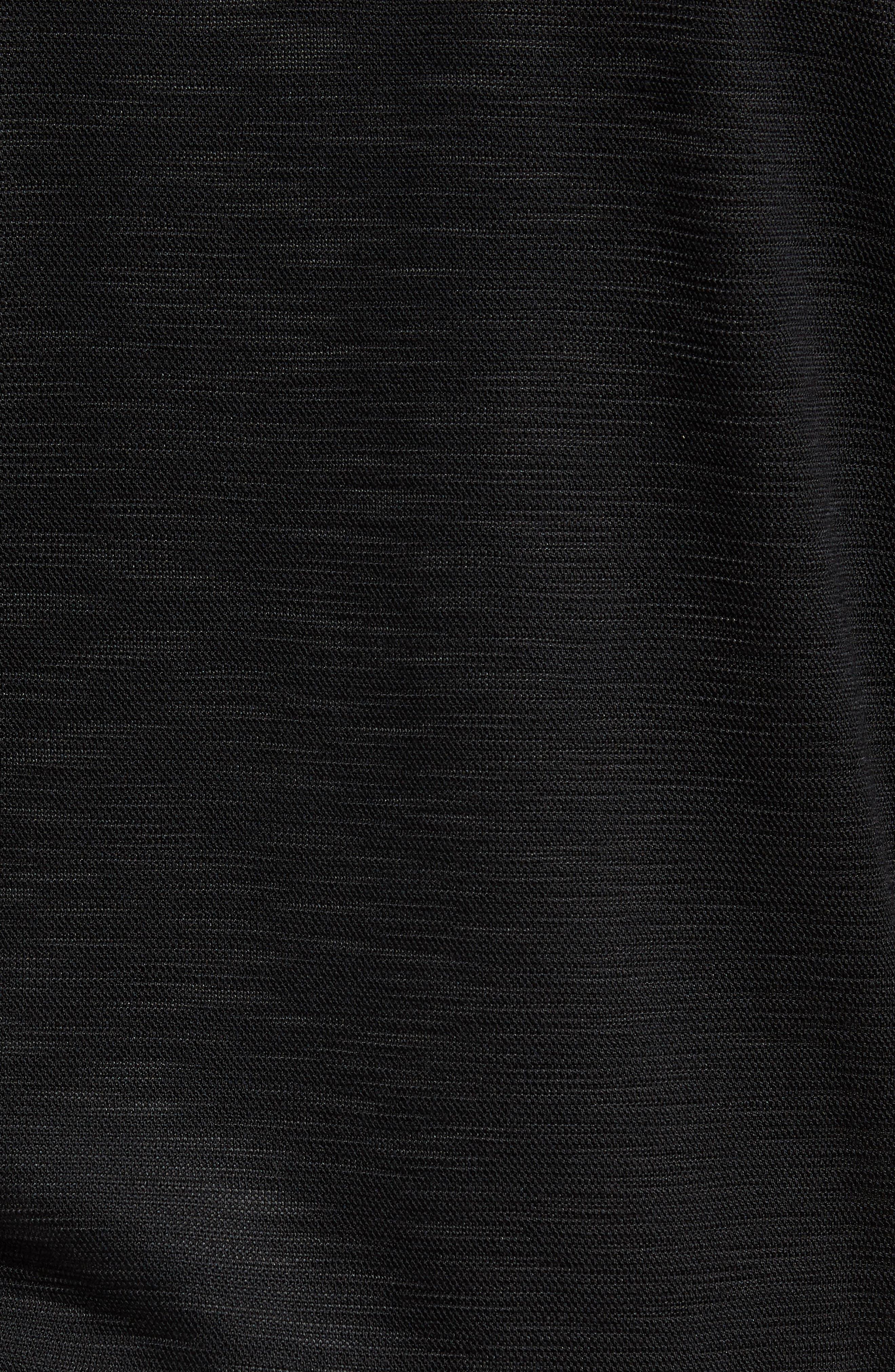 Gesso Slim Fit Bomber Jacket,                             Alternate thumbnail 5, color,                             Black
