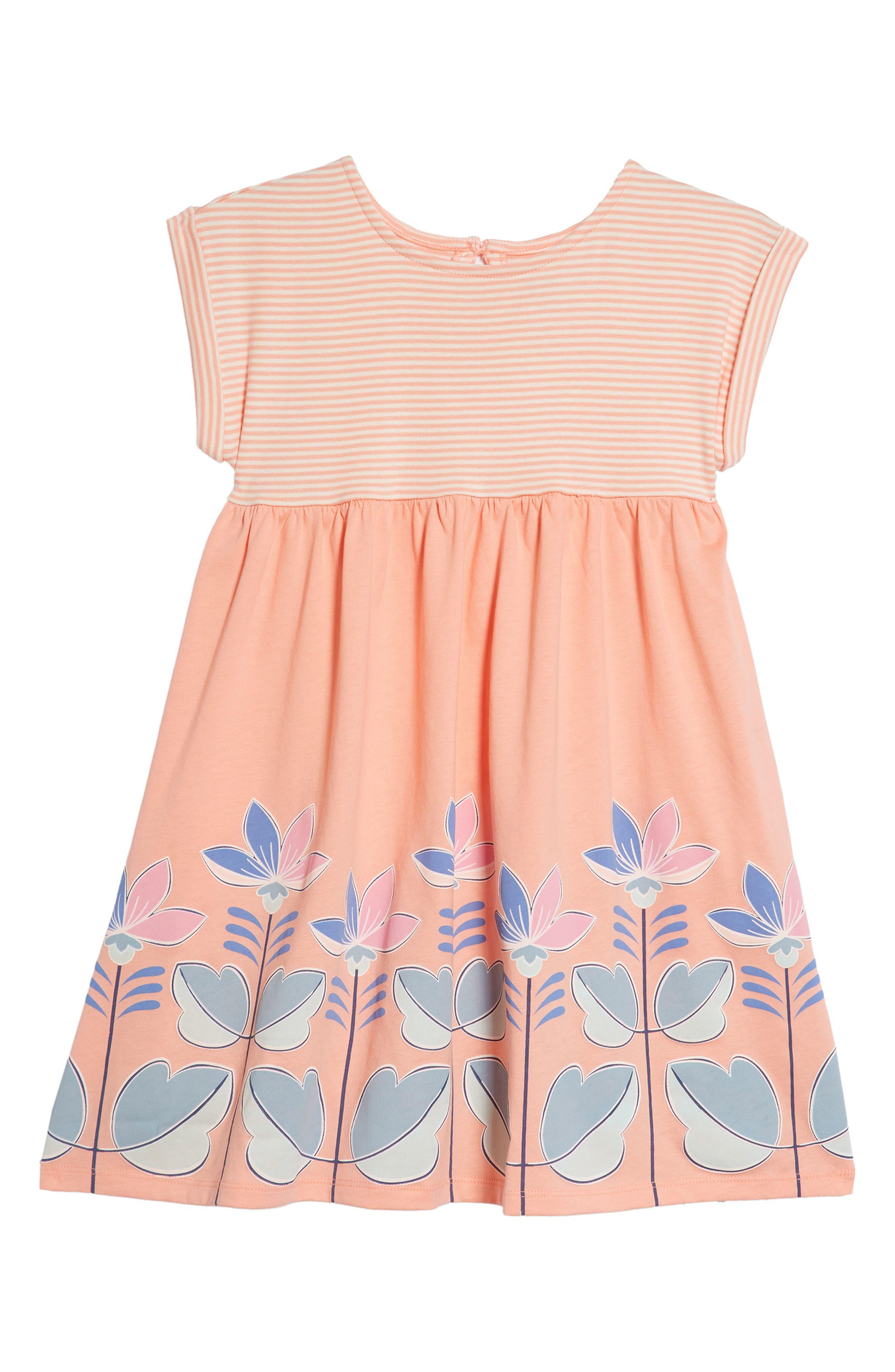 Floral Empire Waist Dress,                         Main,                         color, Sherbert