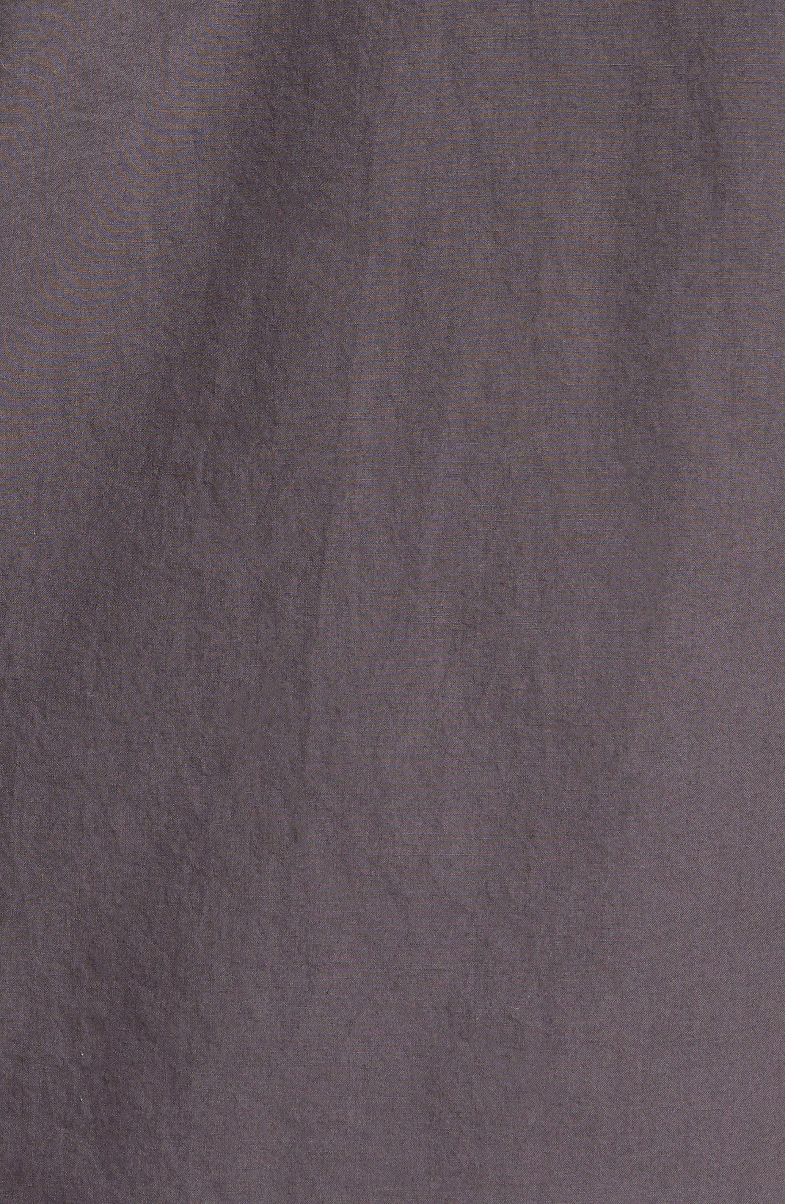 Regular Fit Garment Dyed Poplin Sport Shirt,                             Alternate thumbnail 5, color,                             Workwear Grey