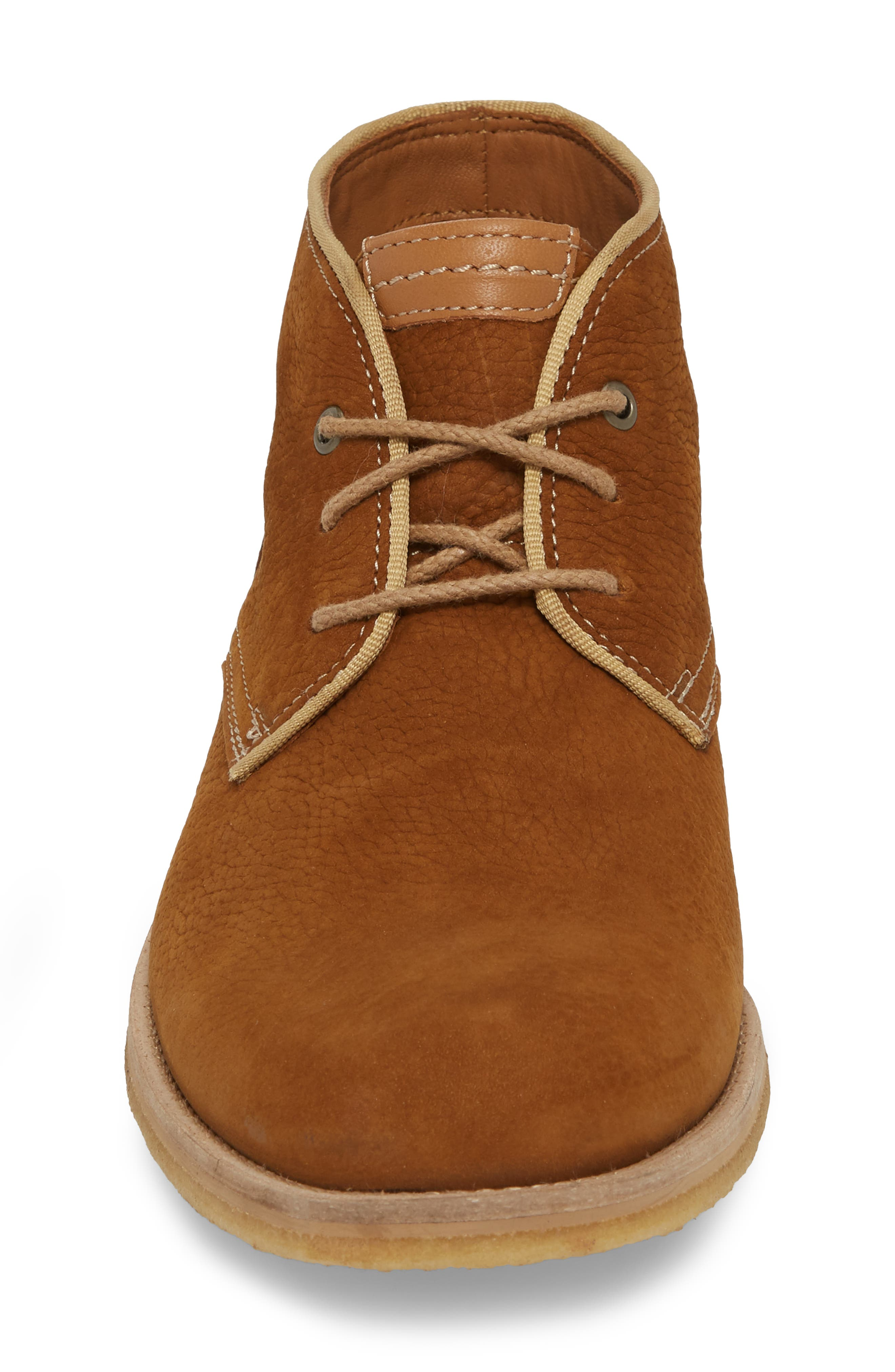 Howell Water Resistant Chukka Boot,                             Alternate thumbnail 4, color,                             Tan Nubuck Leather