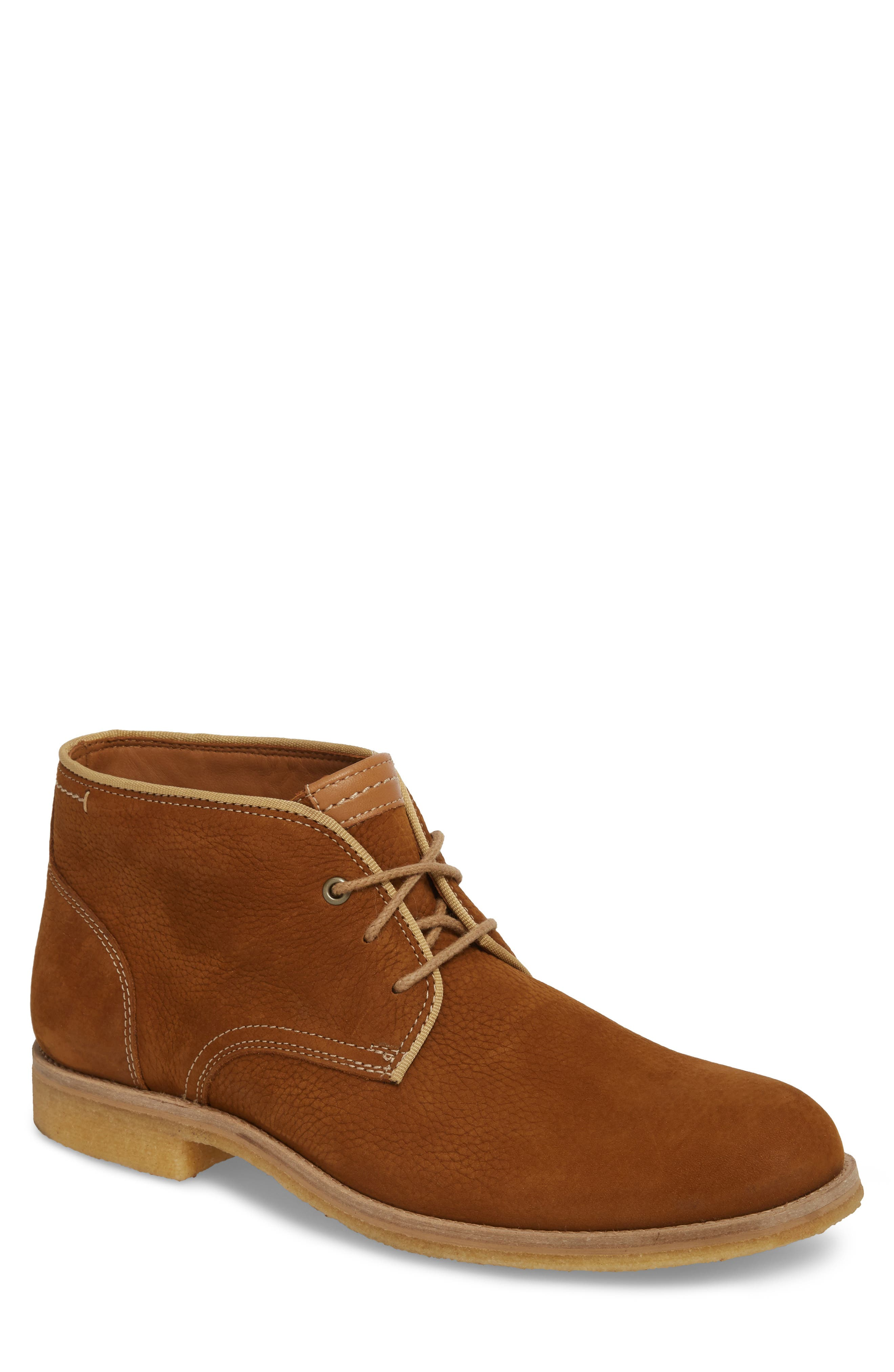 Howell Water Resistant Chukka Boot,                             Main thumbnail 1, color,                             Tan Nubuck Leather