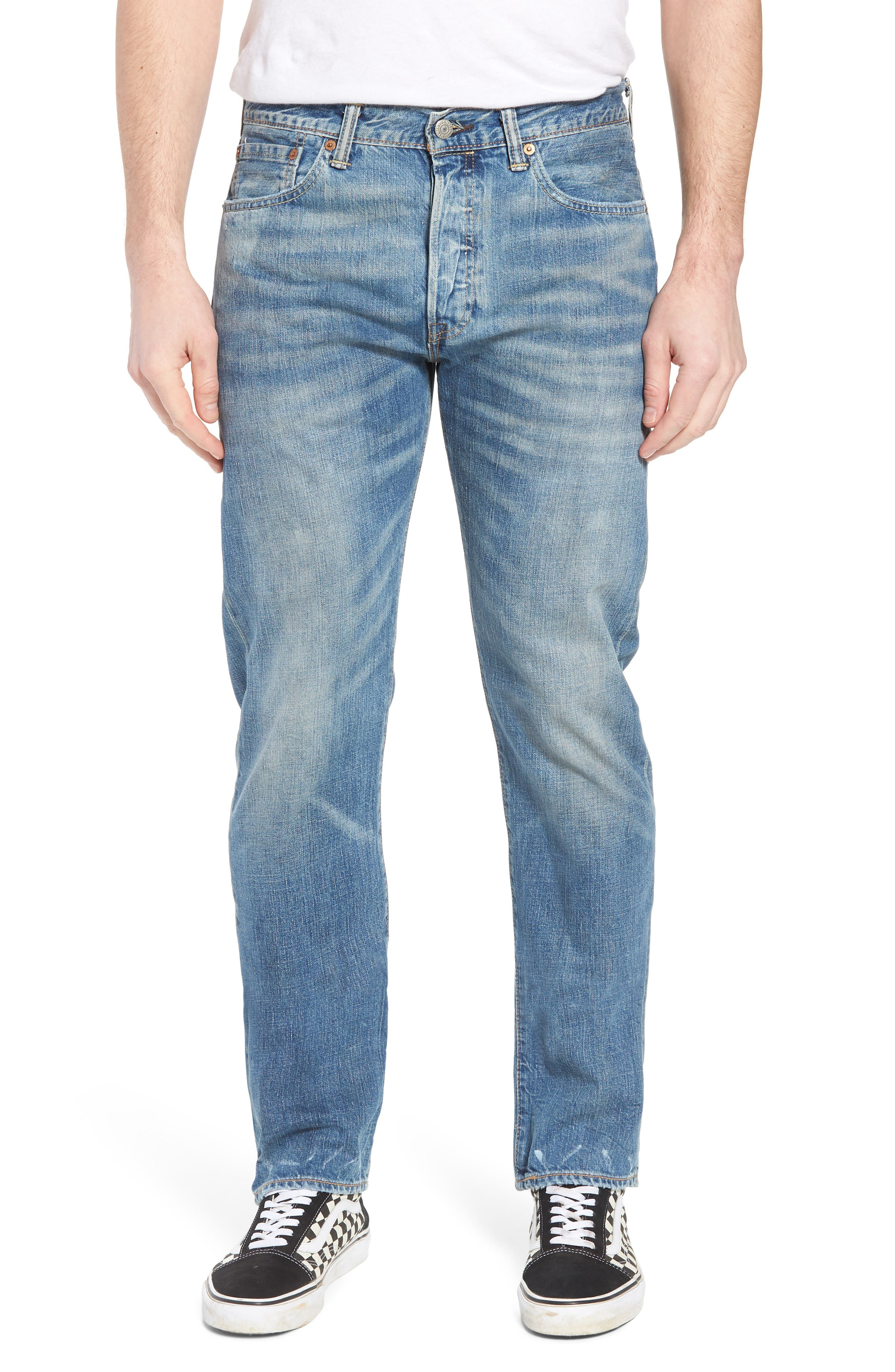 501<sup>®</sup> Original Straight Leg Jeans,                         Main,                         color, The Patterson Lightweight