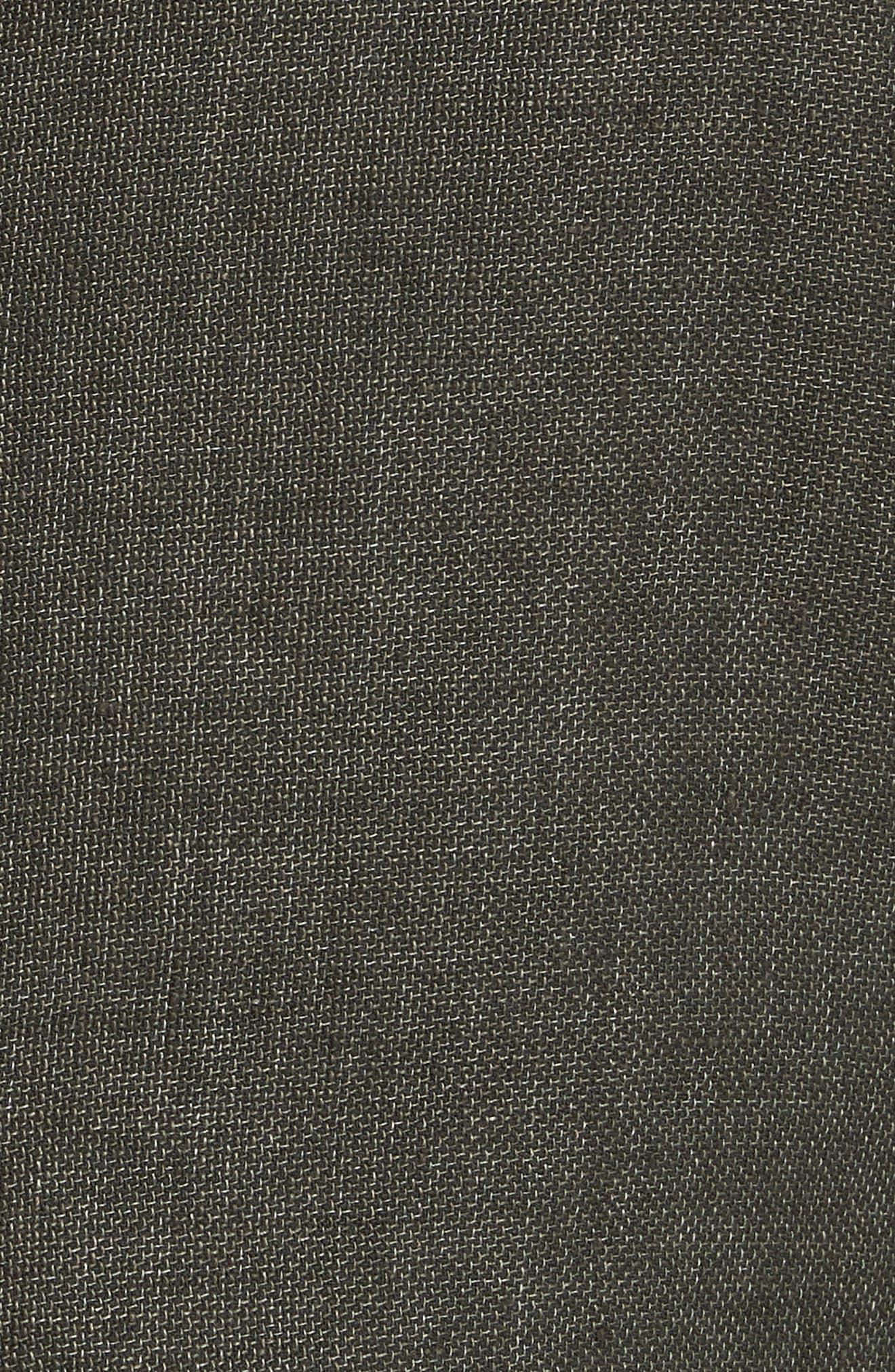 Trim Fit Linen & Cotton Blazer,                             Alternate thumbnail 5, color,                             Green