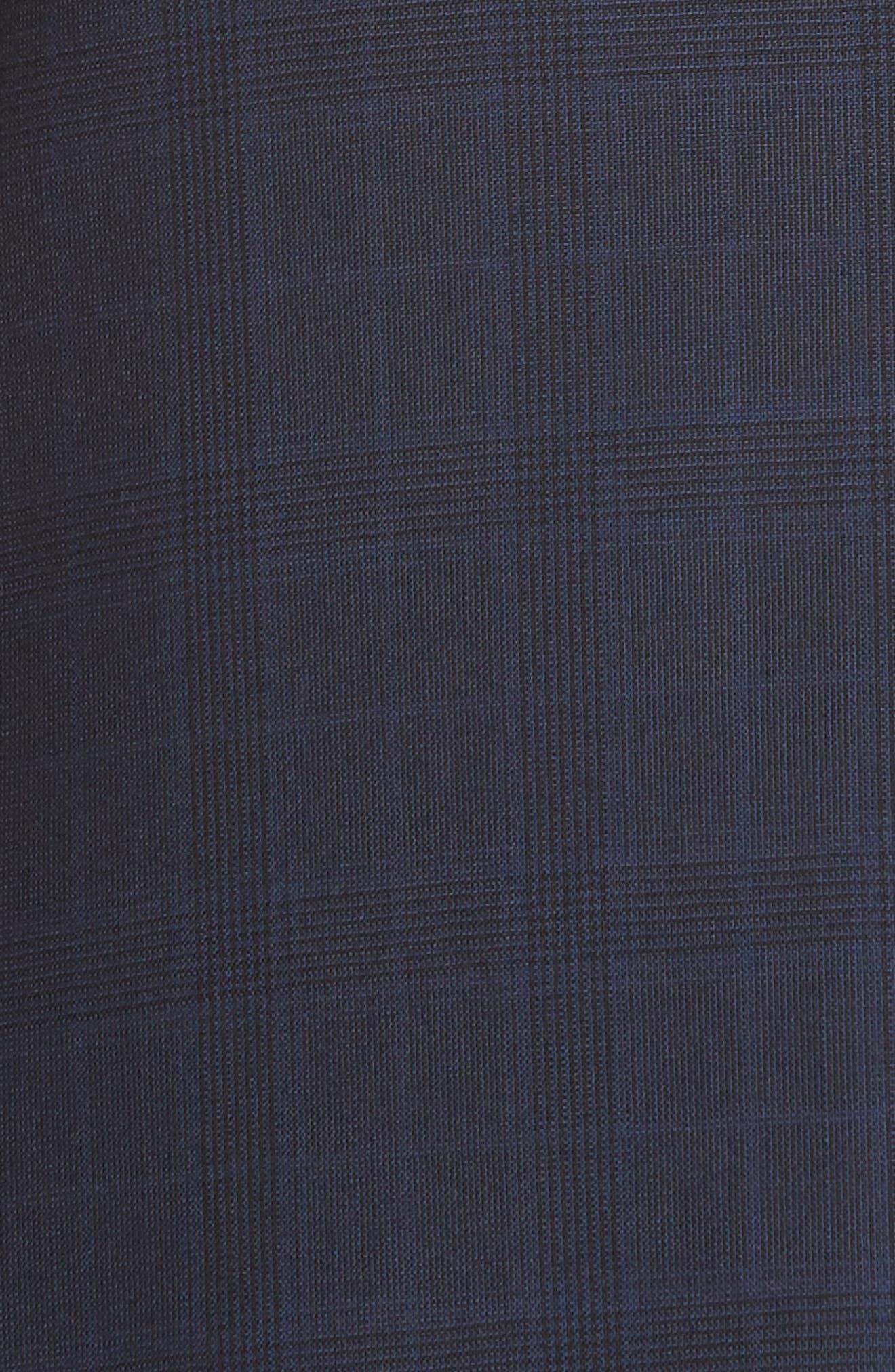 Trim Fit Plaid Wool Suit,                             Alternate thumbnail 7, color,                             Navy Check
