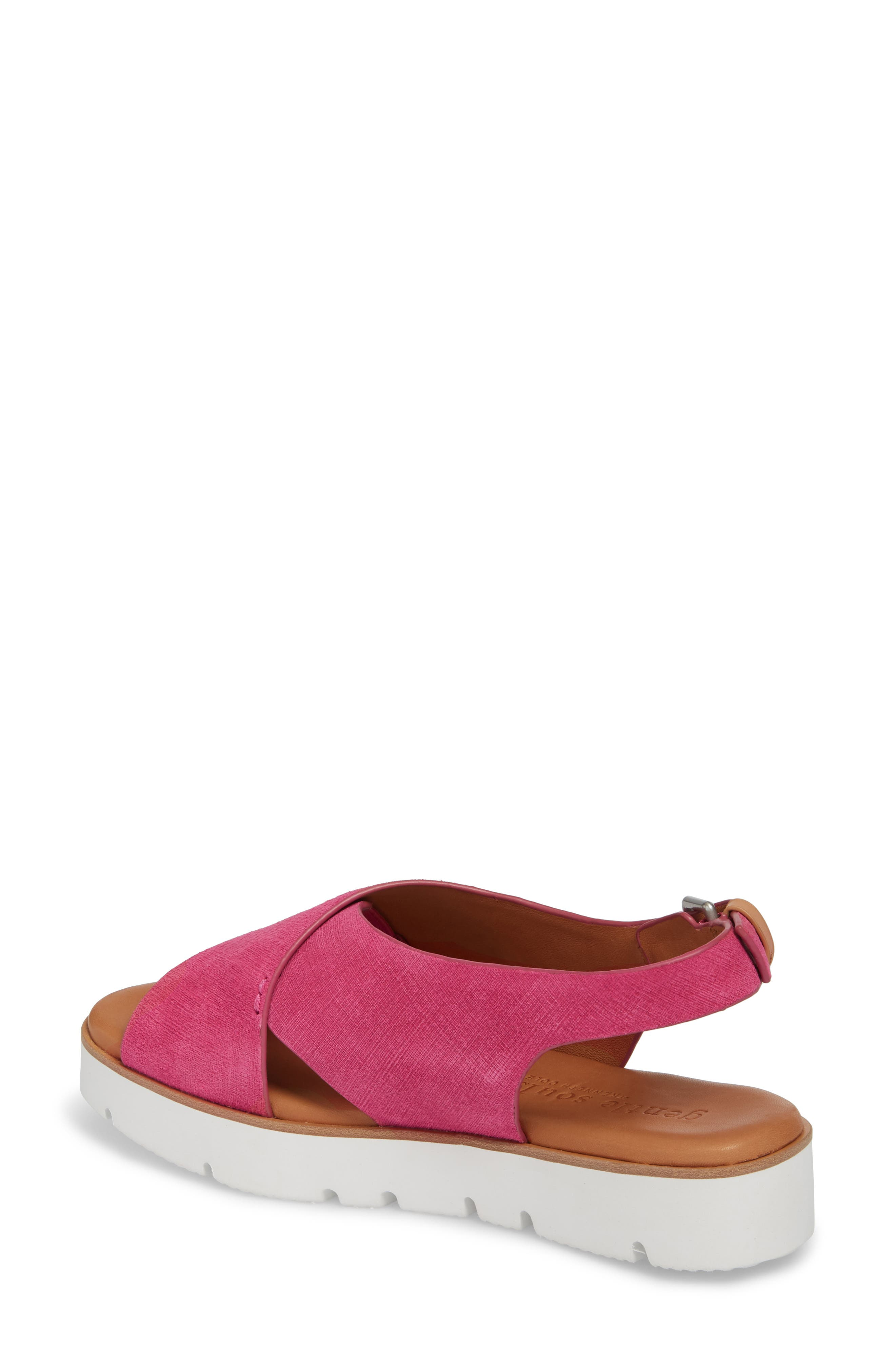 by Kenneth Cole Kiki Platform Sandal,                             Alternate thumbnail 2, color,                             Fuchsia Suede