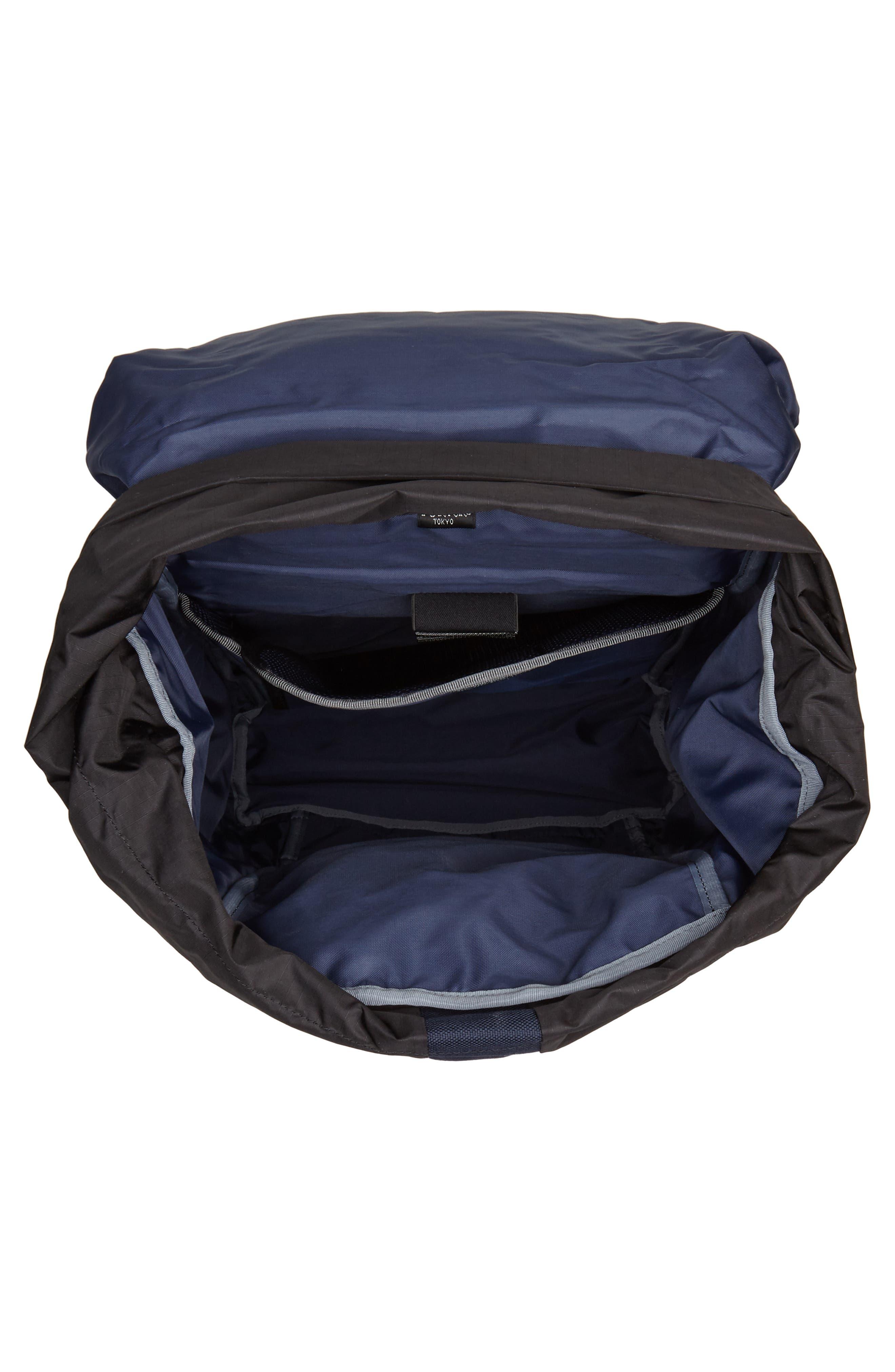 Porter-Yoshida & Co. Hype Backpack,                             Alternate thumbnail 4, color,                             Navy/ Black