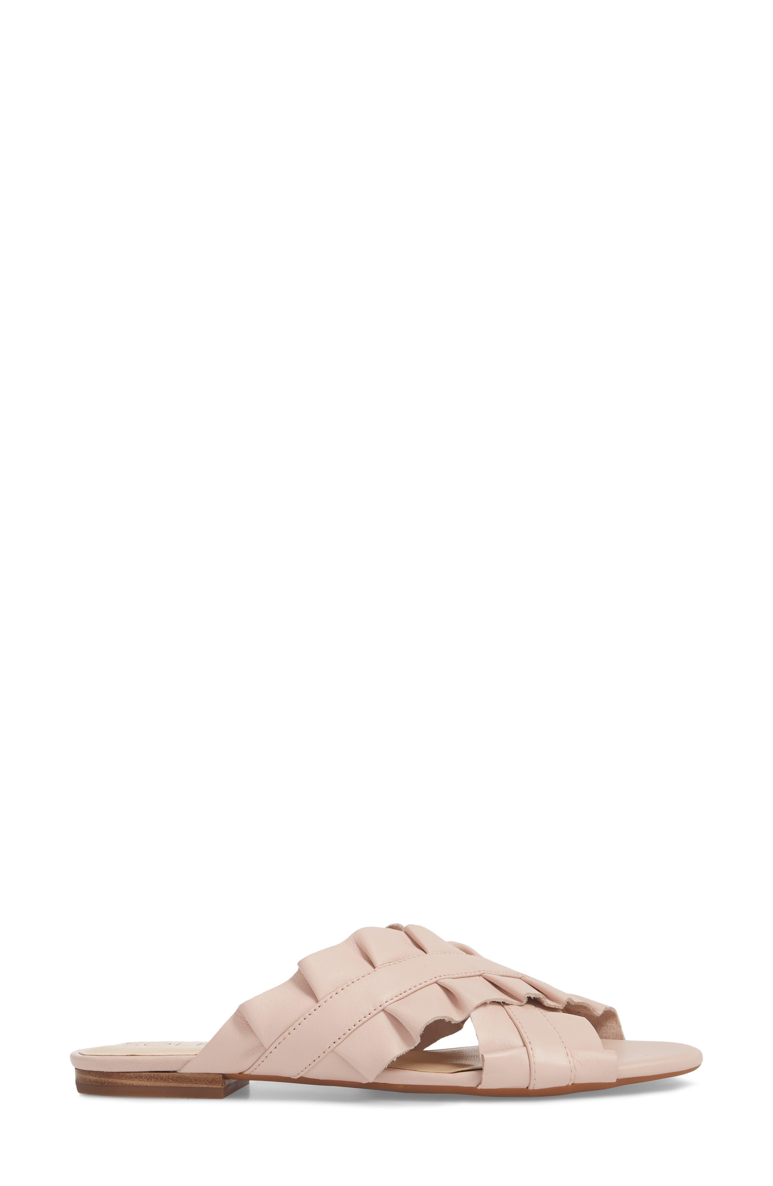 Mandi Slide Sandal,                             Alternate thumbnail 3, color,                             Spring Blush