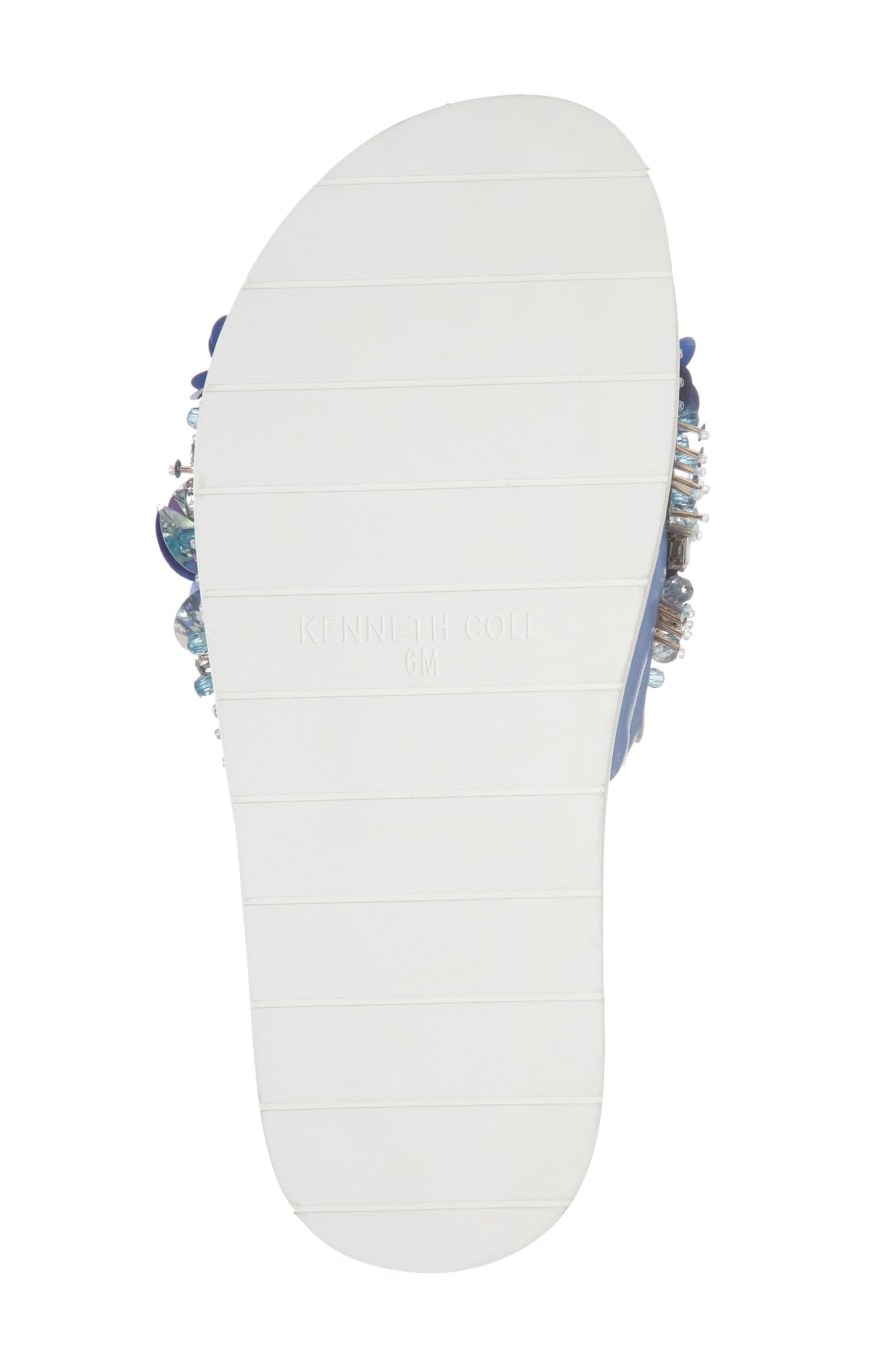 Xenia Sequin Embellished Sandal,                             Alternate thumbnail 6, color,                             Blue Multi Fabric